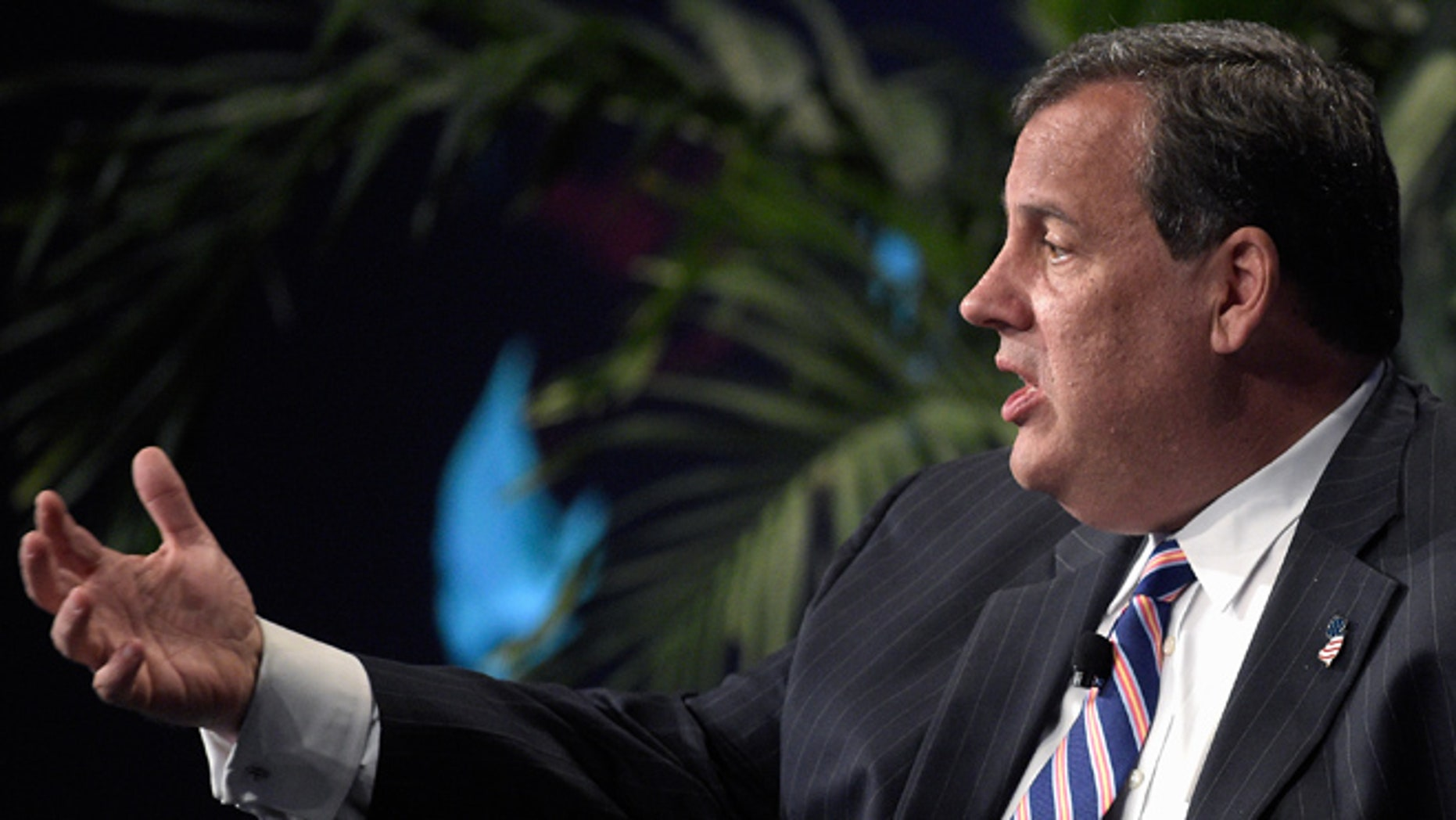 June 2, 2015: New Jersey Gov. Chris Christie answers a question during a summit in Lake Buena Vista, Fla.