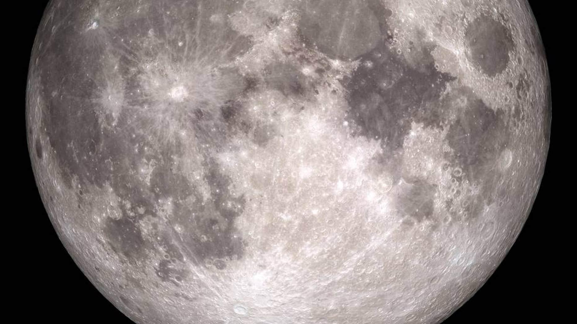 How the moon will appear on Christmas, 2015. (NASA/Goddard/Lunar Reconnaissance Orbiter)