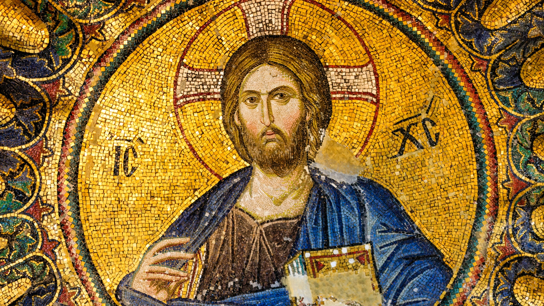 File photo - 13th century mosaic of Jesus Christ in the church of Hagia Sophia in Istanbul, Turkey (iStock)