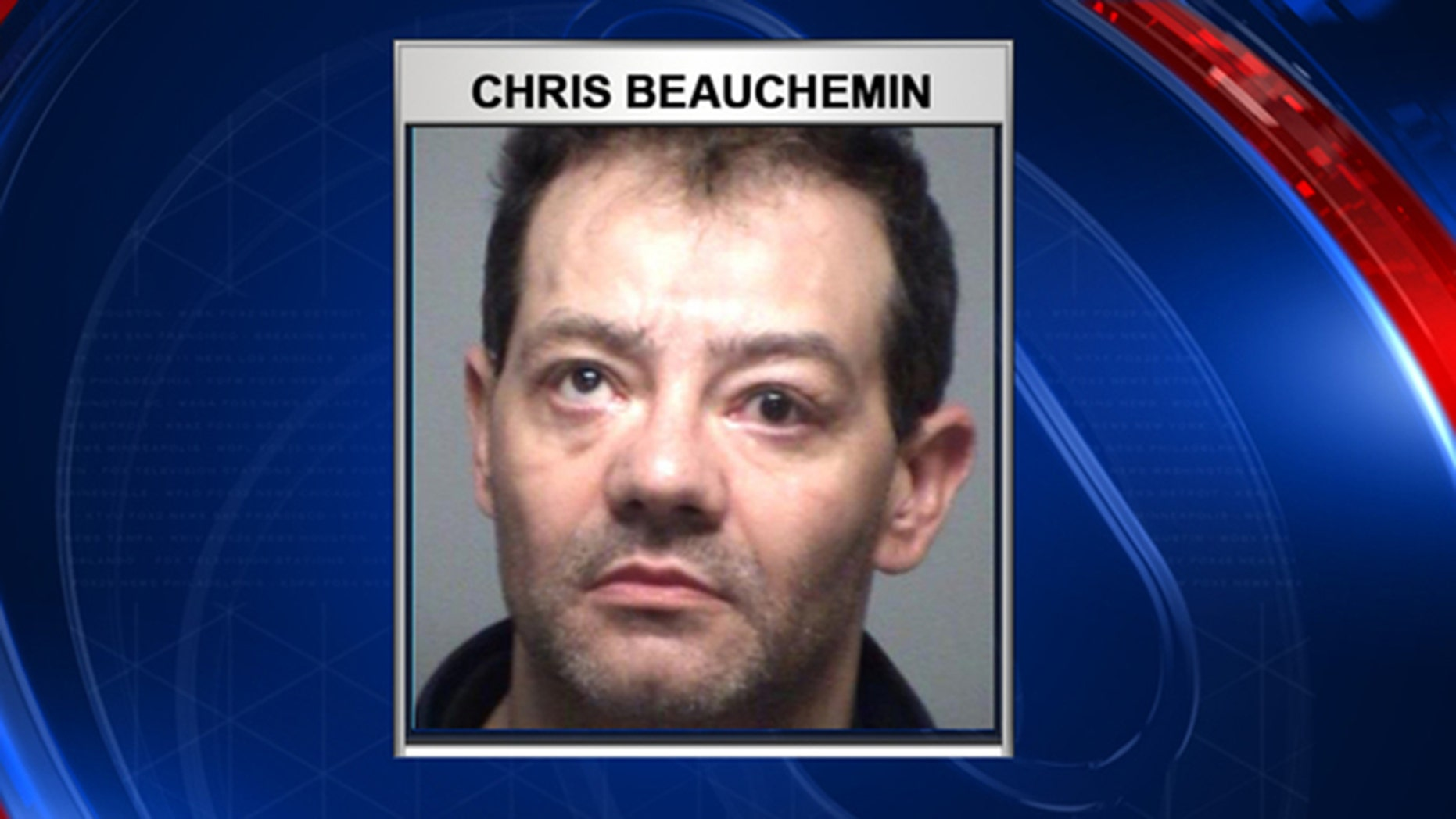Christopher Beauchemin has been accused by police of driving drunk while dropping a child off at school Wednesday morning.