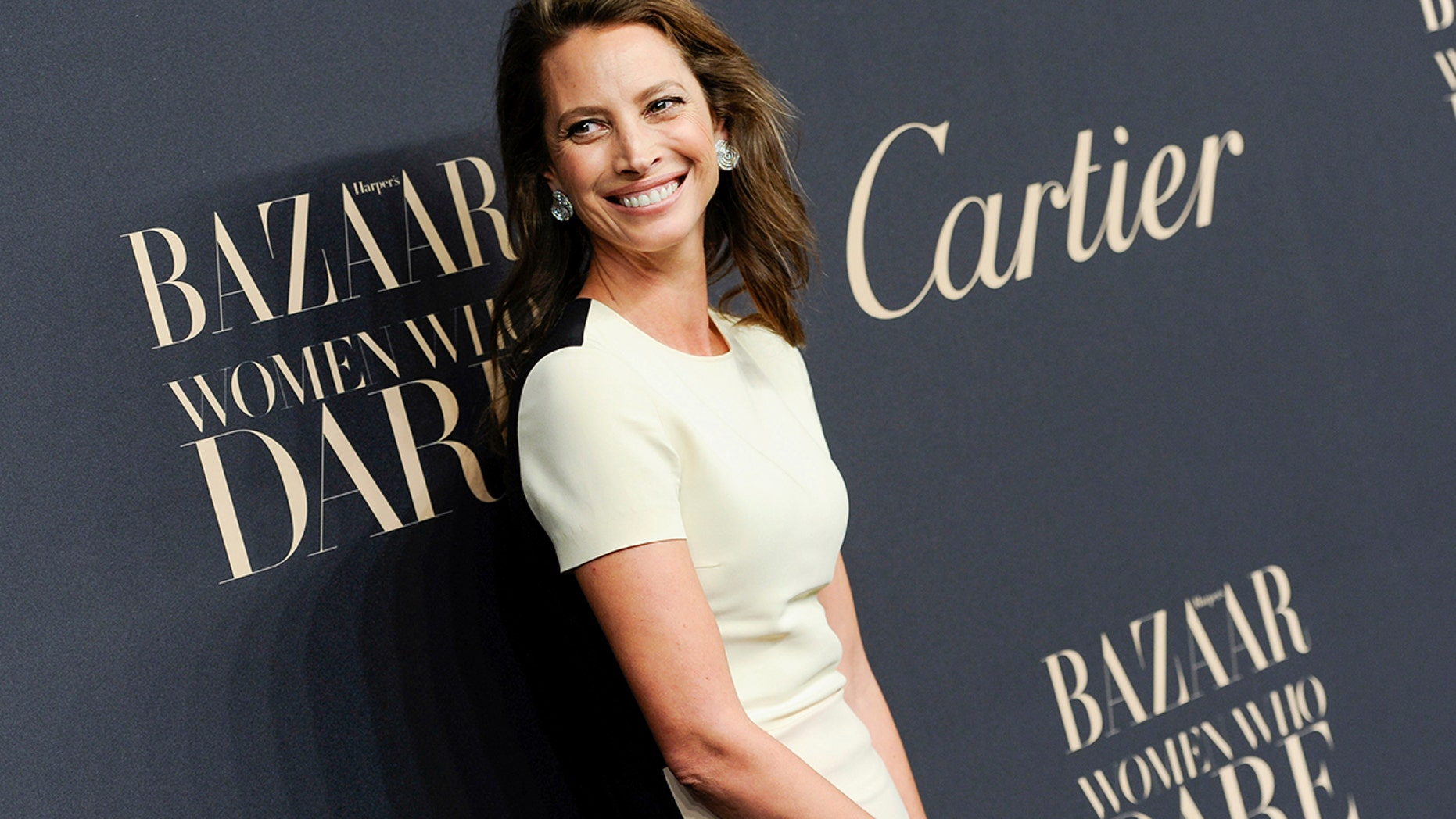 In this Nov. 12, 2014 file photo, model Christy Turlington Burns attends the Panthere de Cartier Collection event in New York. Turlington Burns tells Women's Wear Daily that sexual harassment and mistreatment of models was always widely known. In the interview published Wednesday, she said her mother was often with her in her younger, earlier days in the business.