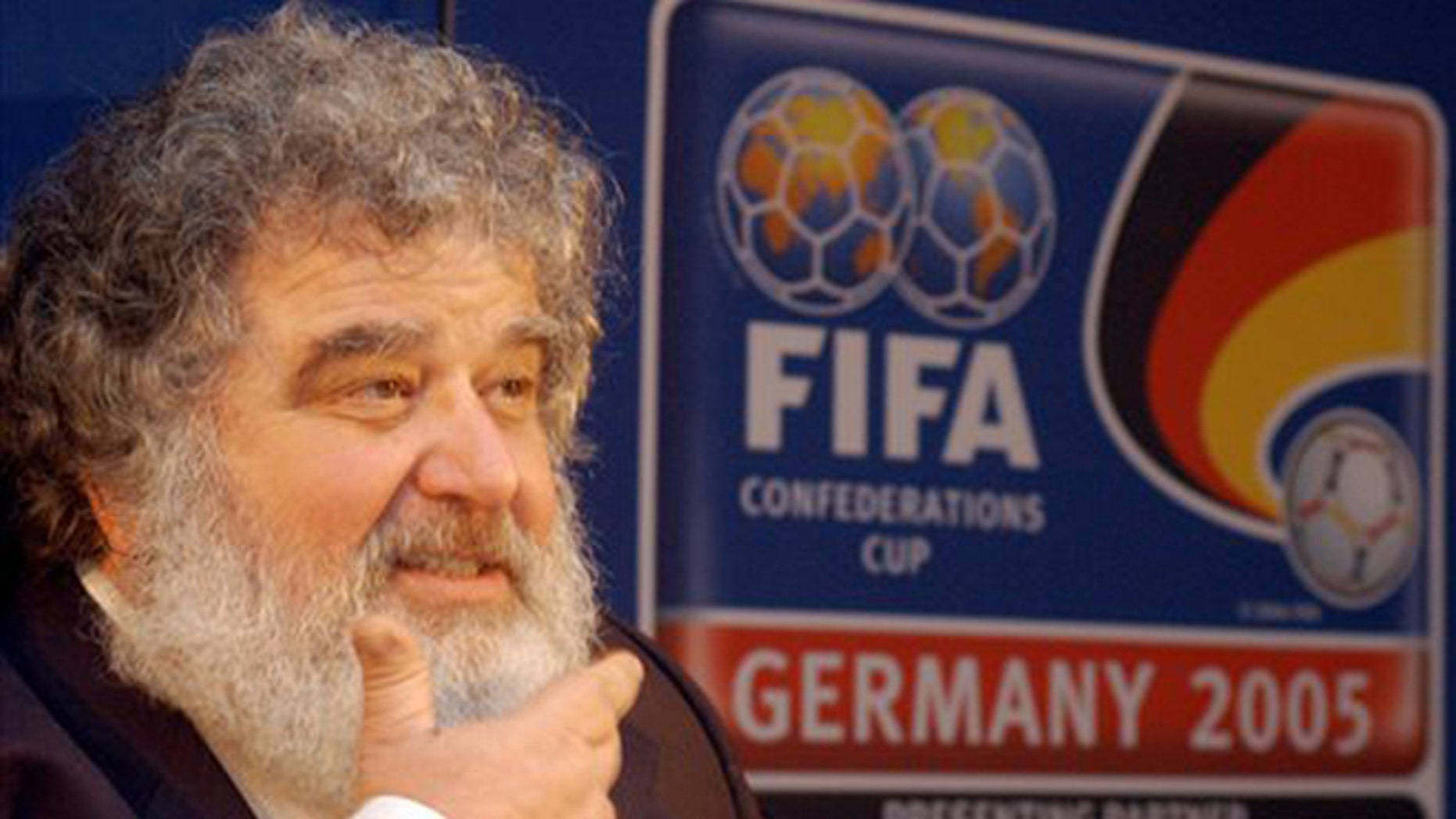 In this file photo, Confederation of North, Central American and Caribbean Association Football (CONCACAF) general secretary Chuck Blazer attends a press conference in Frankfurt, Germany.