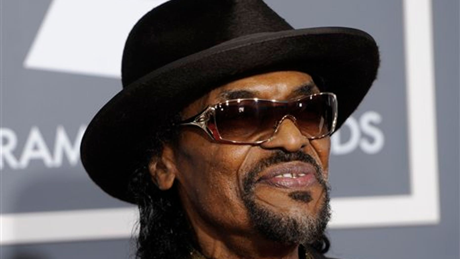 Feb. 13, 2011: Chuck Brown arrives at the 53rd annual Grammy Awards in Los Angeles.