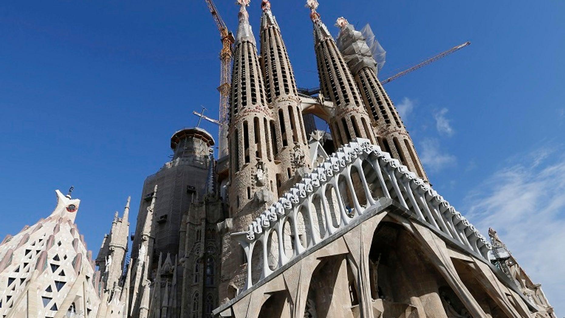 Barcelona's Sagrada Familia cathedral was evacuated Tuesday following a false alarm of terrorist activity.