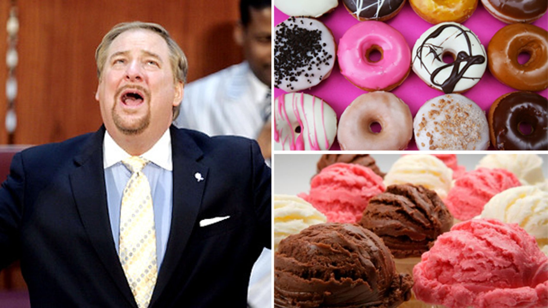 Rick Warren, pastor of Saddleback Church, is preaching to keep unhealthy things like donuts and ice cream out of parishioners' diets.