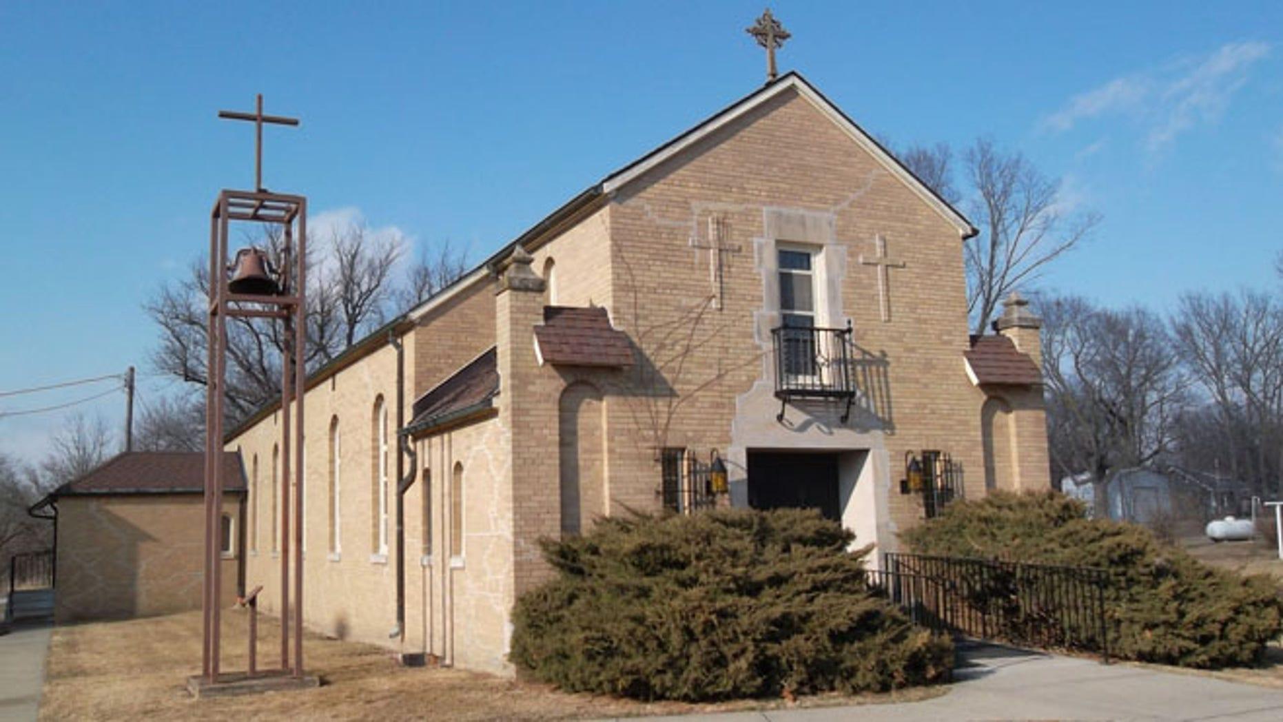 Church of the Assumption in Churchville, Iowa (Courtesy Karon King)