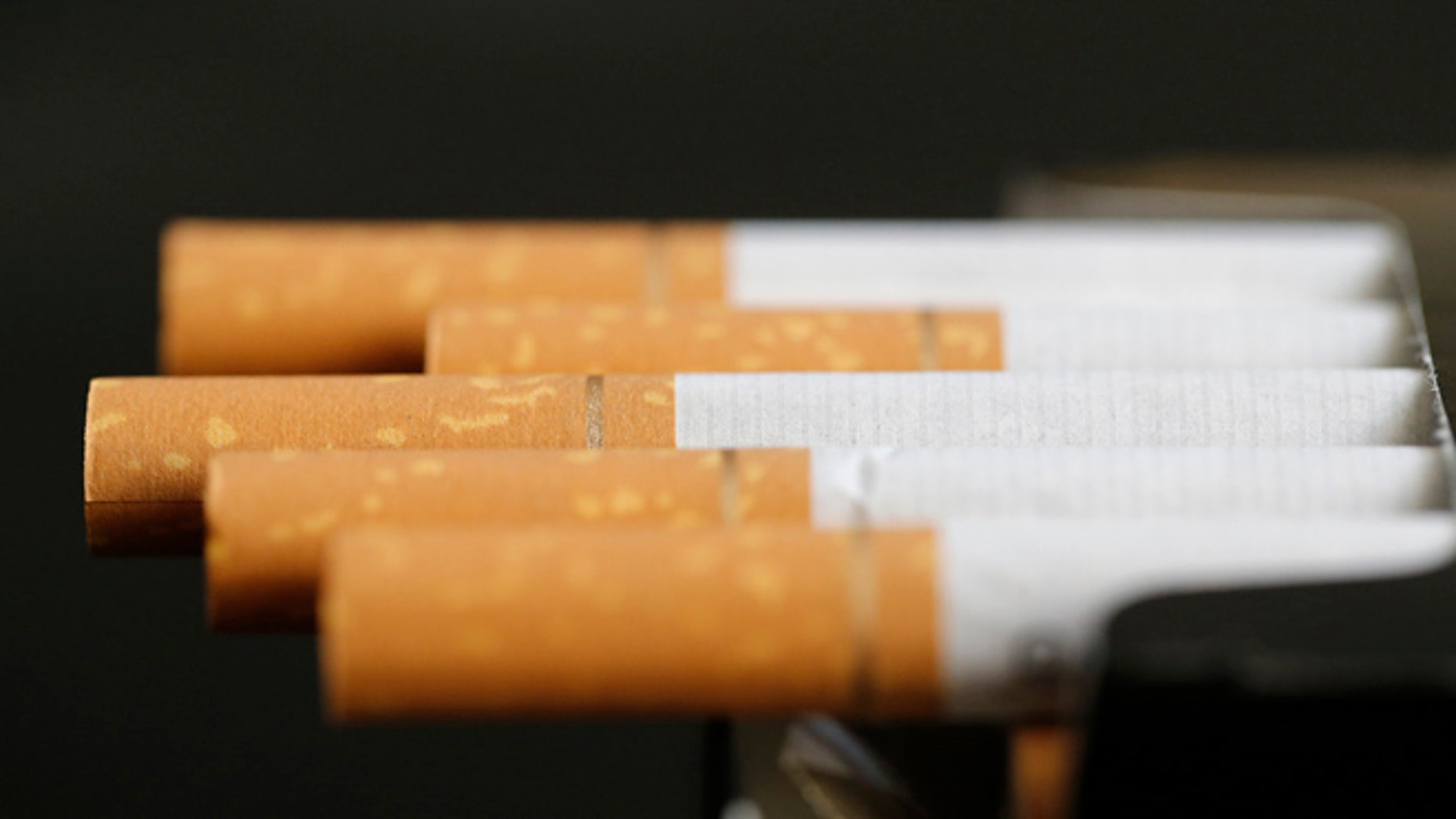 An illustration pictures shows cigarettes in their package.