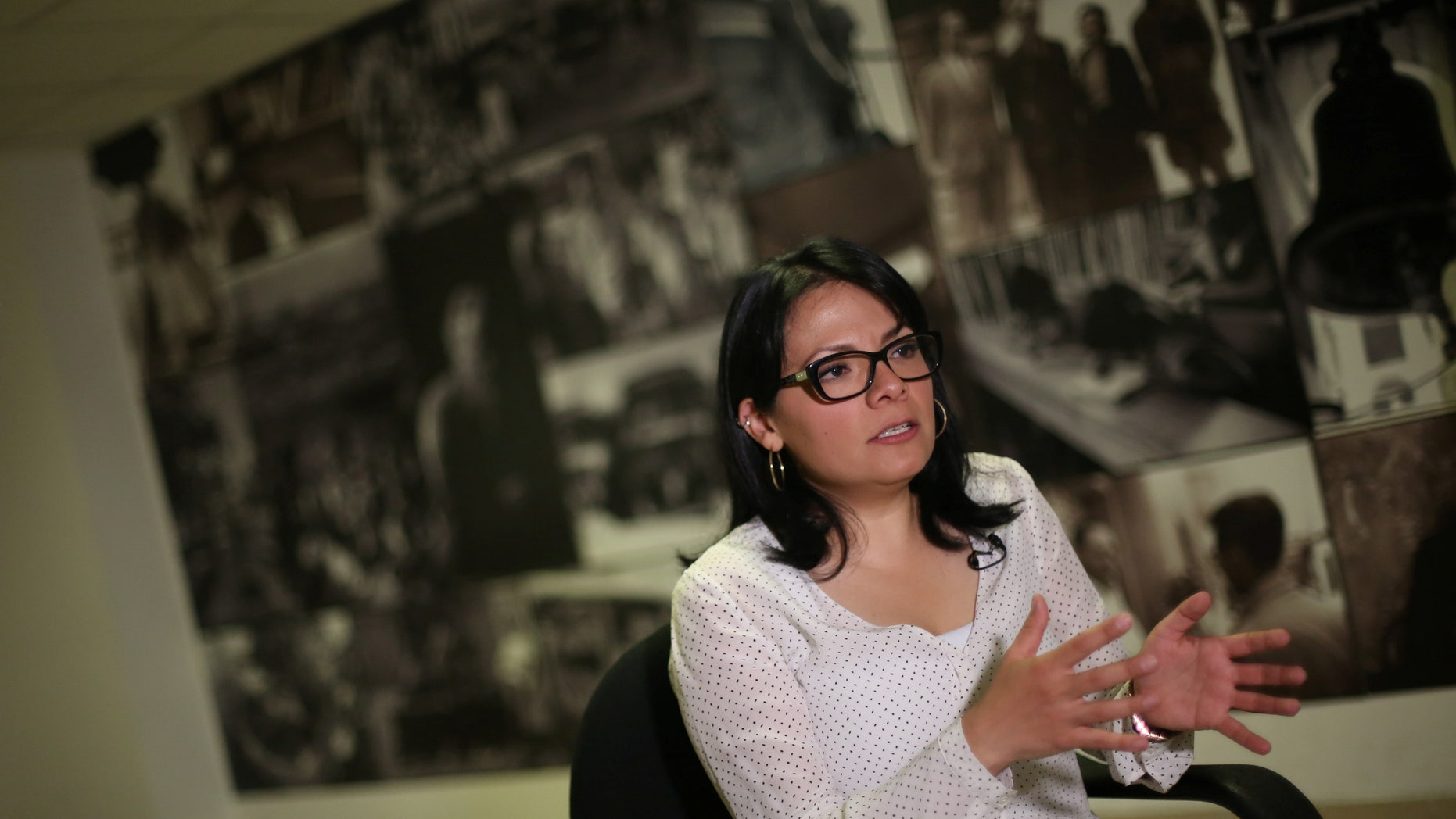 Cinthia Perez, a director of Mexican Commission for Refugee Assistance (COMAR) in Mexico City, Mexico, December 15, 2016.