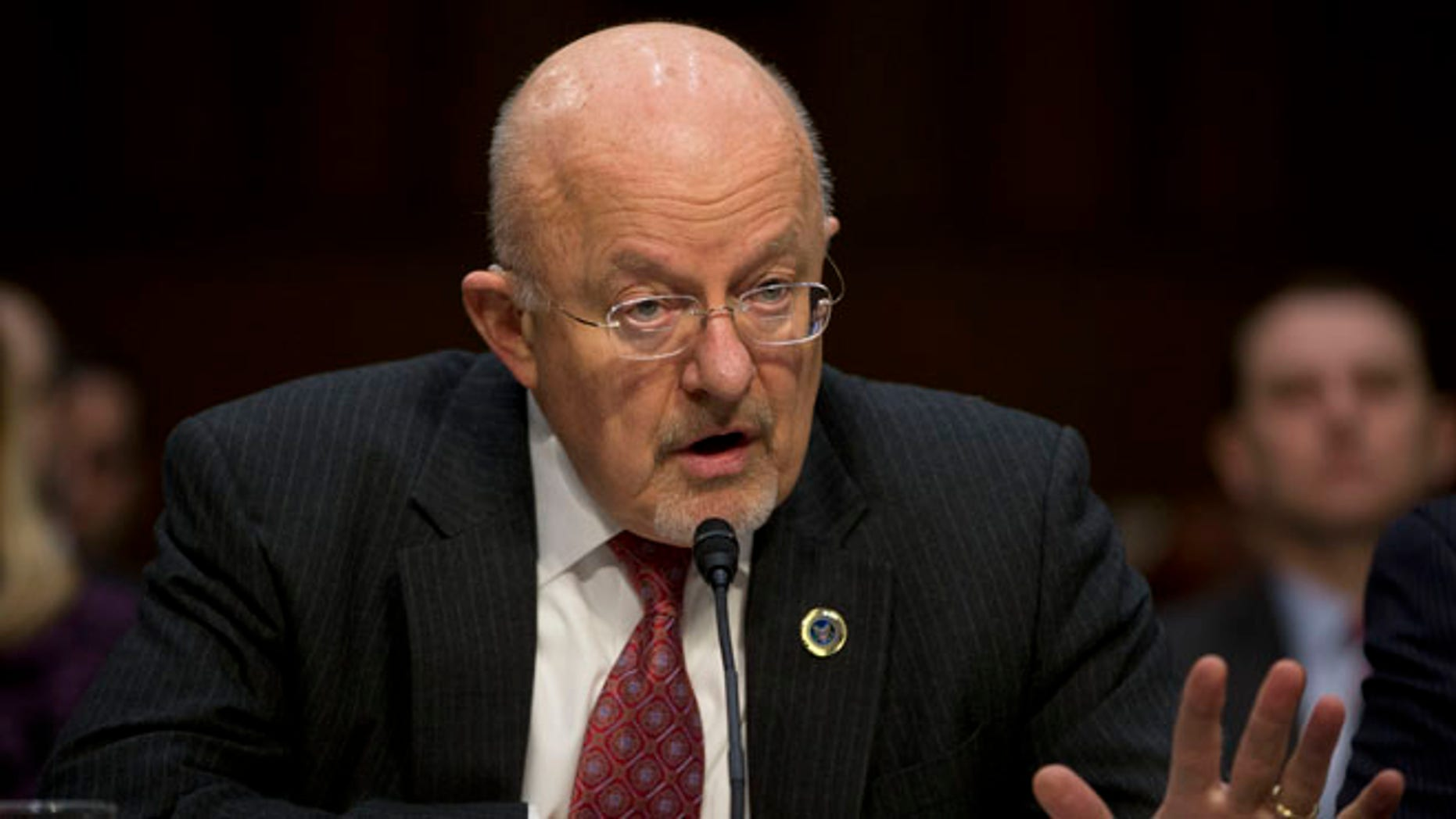 Jan. 29, 2014: Director of National Intelligence James Clapper testifies on Capitol Hill in Washington.