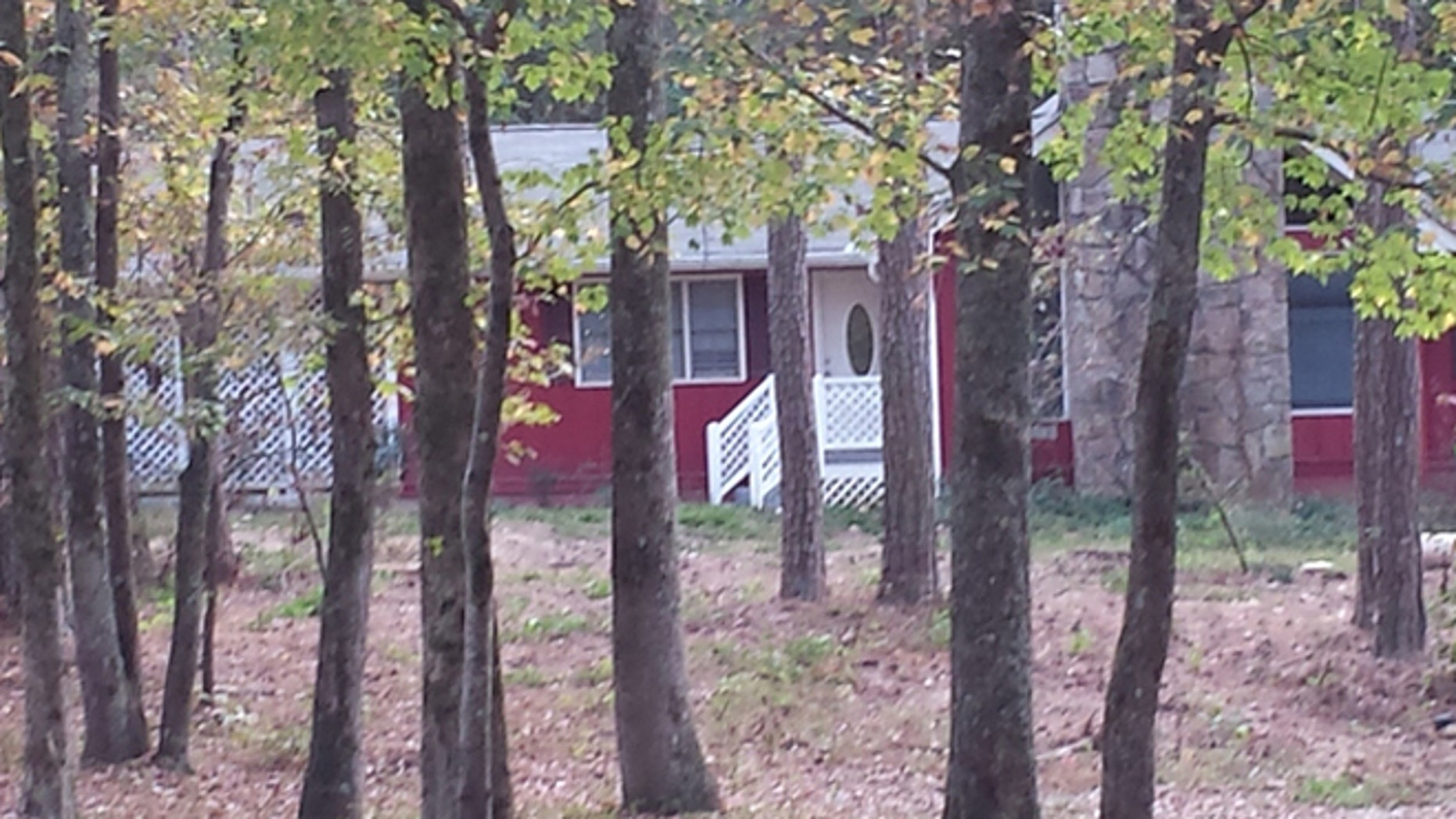 Clayton County Police Department say a 12-year-old boy was accidentally shot in this house in Jonesboro, Georgia, Saturday. (Fox 5 Atlanta)