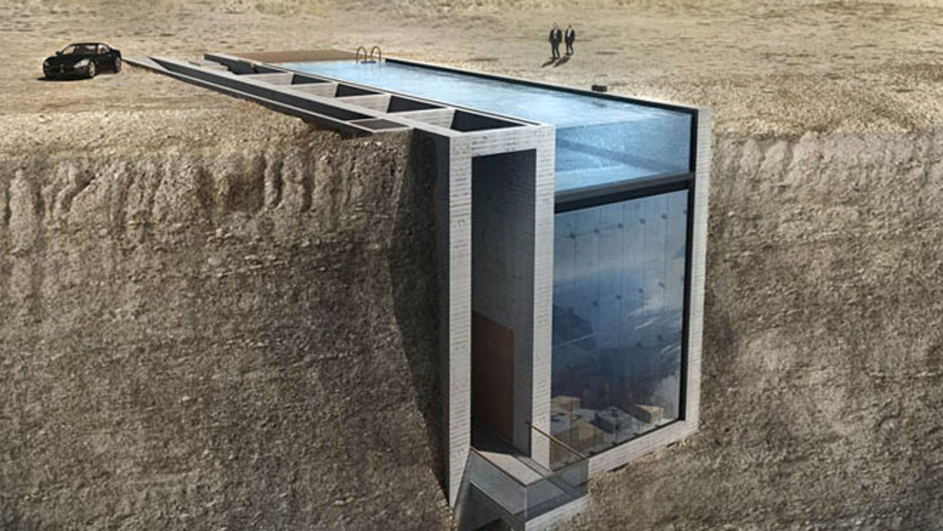 This house sits not above ground, but inside the rock itself.
