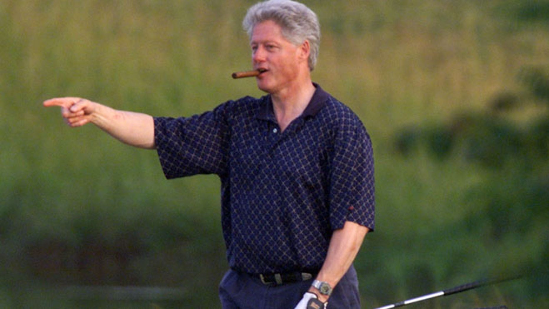 June 6, 1999: President Bill Clinton walks up to the 18th hole at the Black Rock Golf Course in Hagerstown, MD.