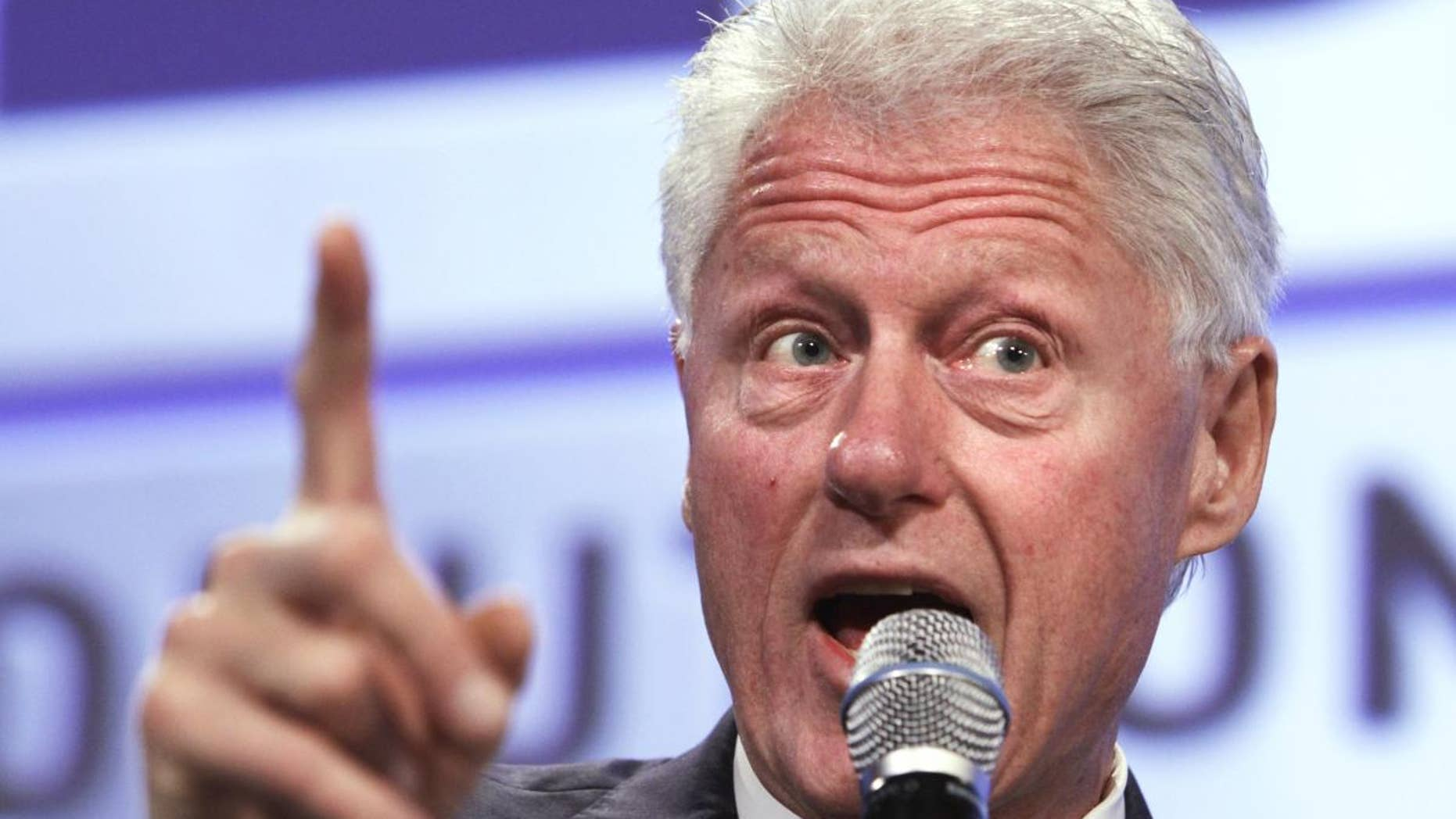 Former President Bill Clinton speaks at the 2011 Fiscal Summit in Washington, Wednesday, May 25, 2011. (AP Photo/Jacquelyn Martin)