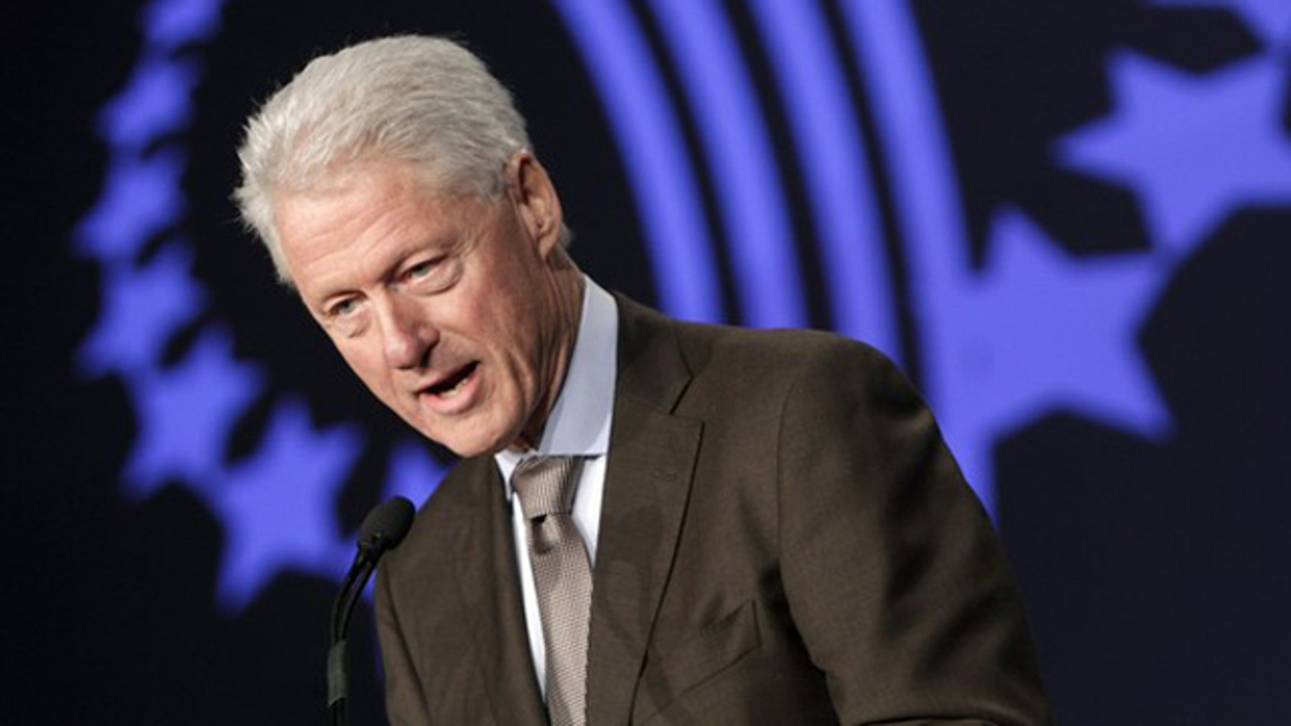 Former President Bill Clinton speaks at the Clinton Global Initiative in Chicago June 30.