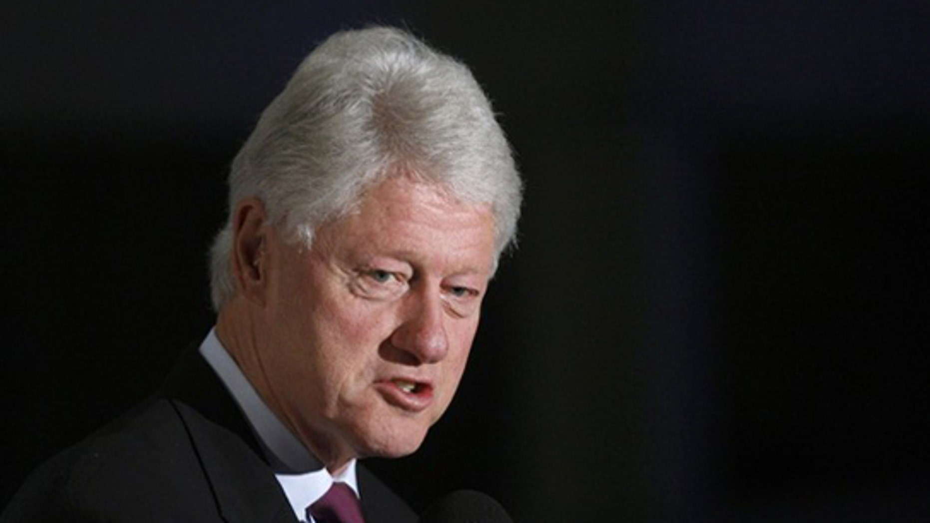 Nov. 14: Former President Bill Clinton speaks during his visit to the Rabin Center in Tel Aviv.