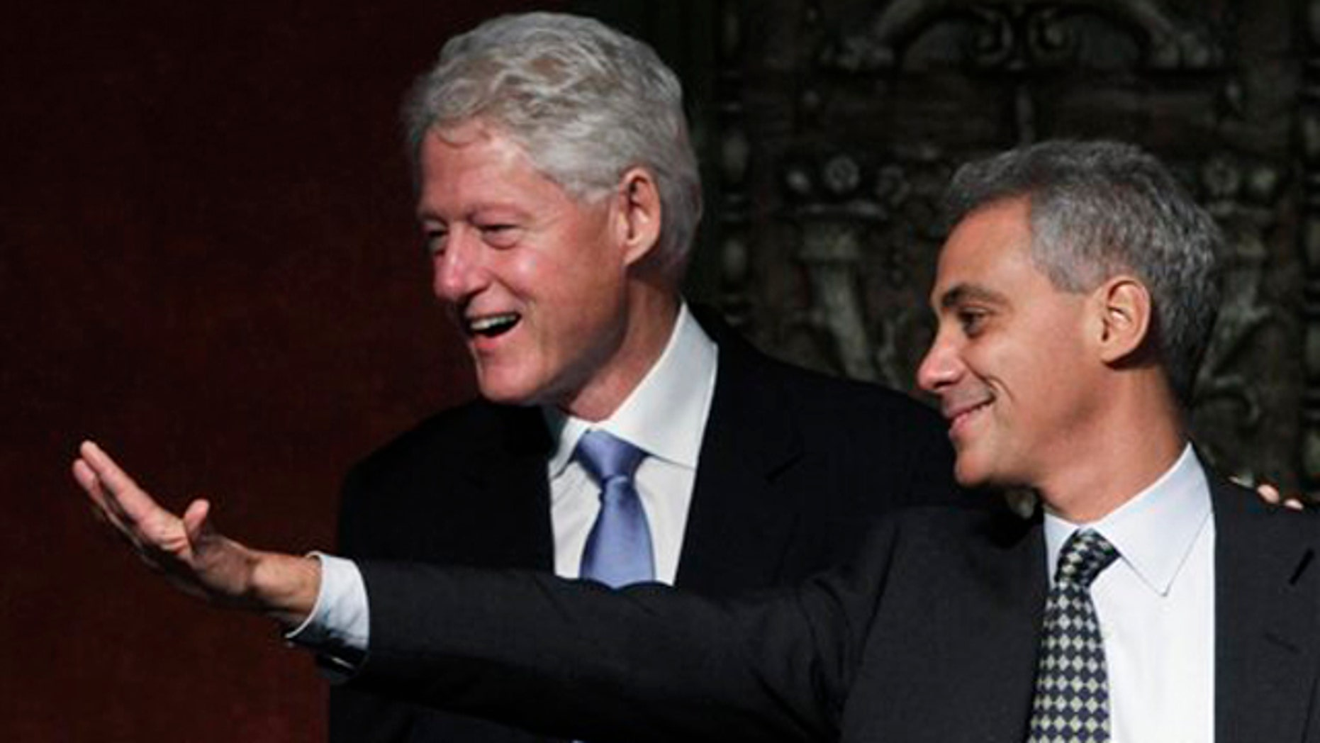 In this Jan. 18 file photo, former President Bill Clinton appears at a rally for Chicago mayoral candidate Rahm Emanuel in Chicago.