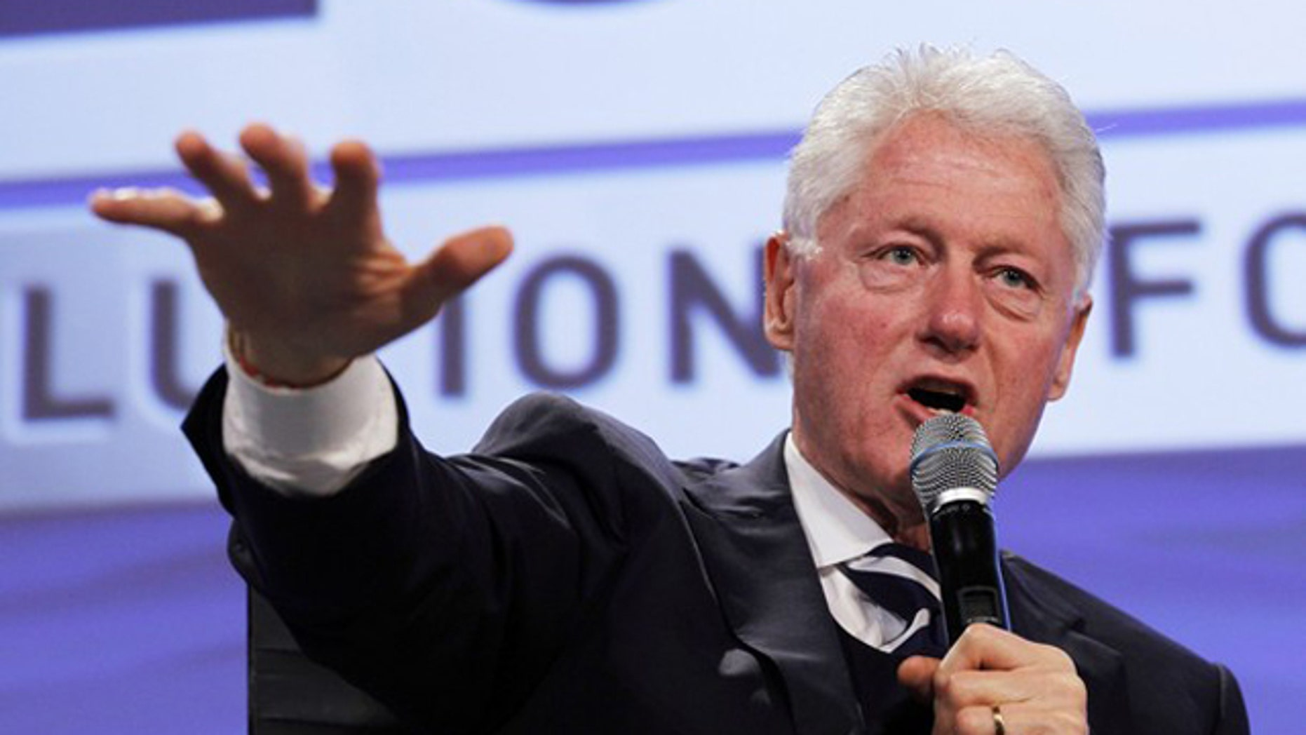Former President Bill Clinton speaks at the 2011 Fiscal Summit on Solutions for America's future in Washington May 25.