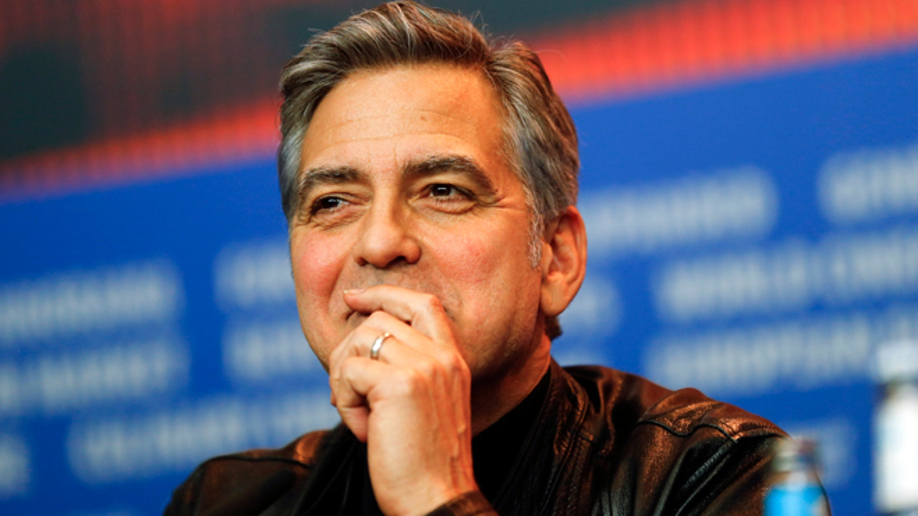 Feb. 11, 2016. George Clooney attends a press conference at the 2016 Berlinale Film Festival in Berlin, Germany.
