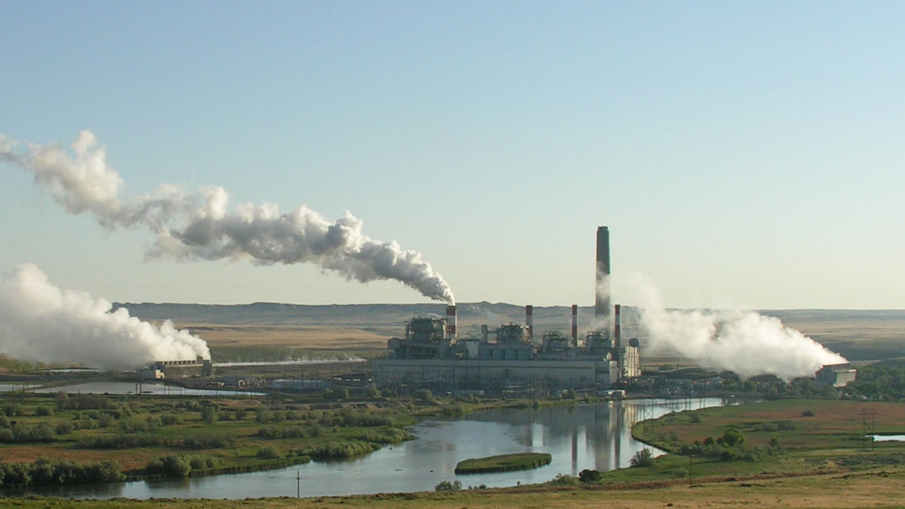 A coal plant is pictured