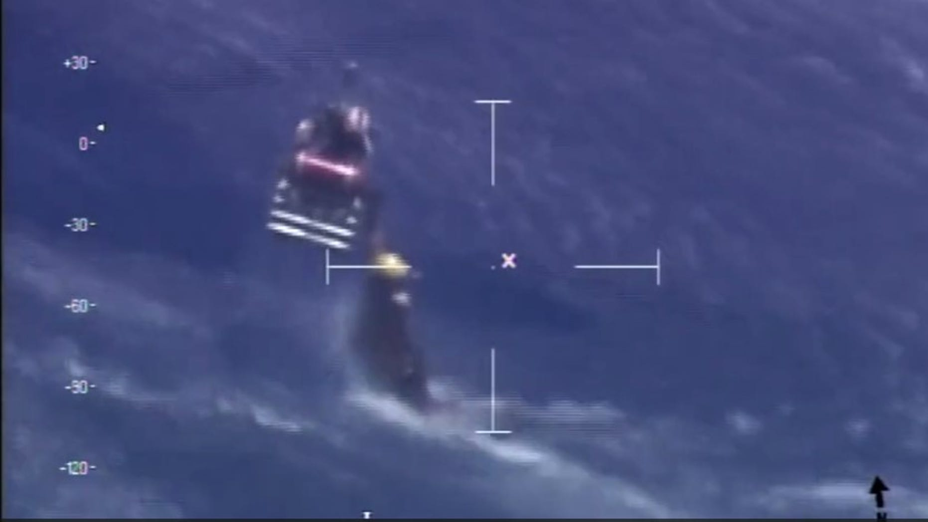 The Coast Guard on Wednesday rescued a Navy pilot who had crash-landed off the coast of Key West.