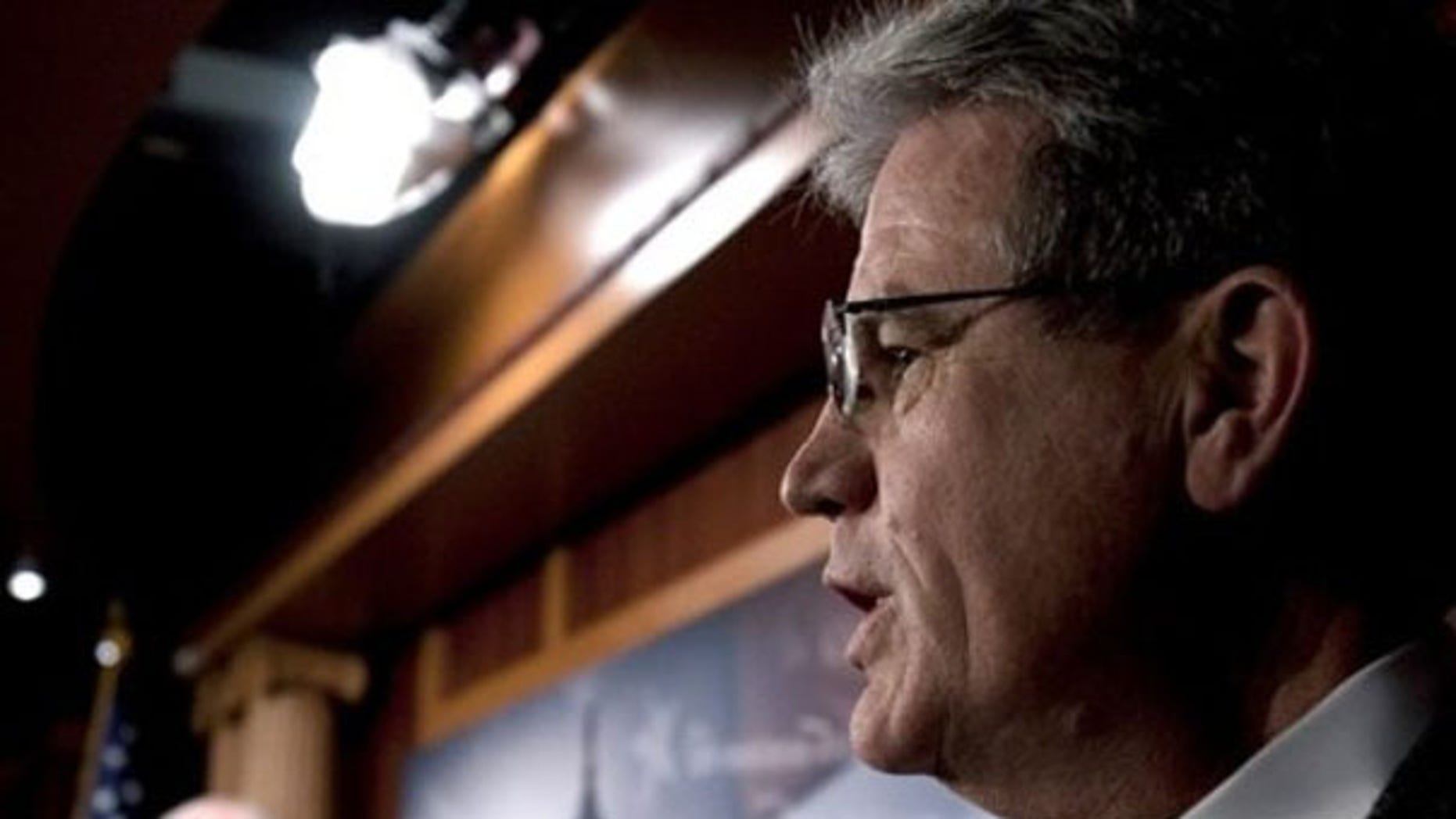 Sen. Tom Coburn is seen at a news conference on Capitol Hill Dec. 19. (AP Photo)