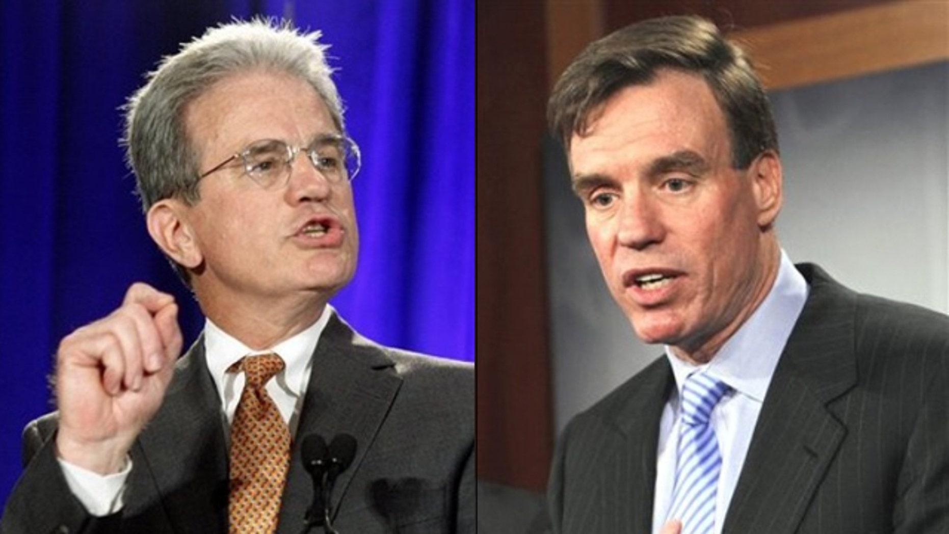 Shown here are Sen. Tom Coburn, left, and Sen. Mark Warner.