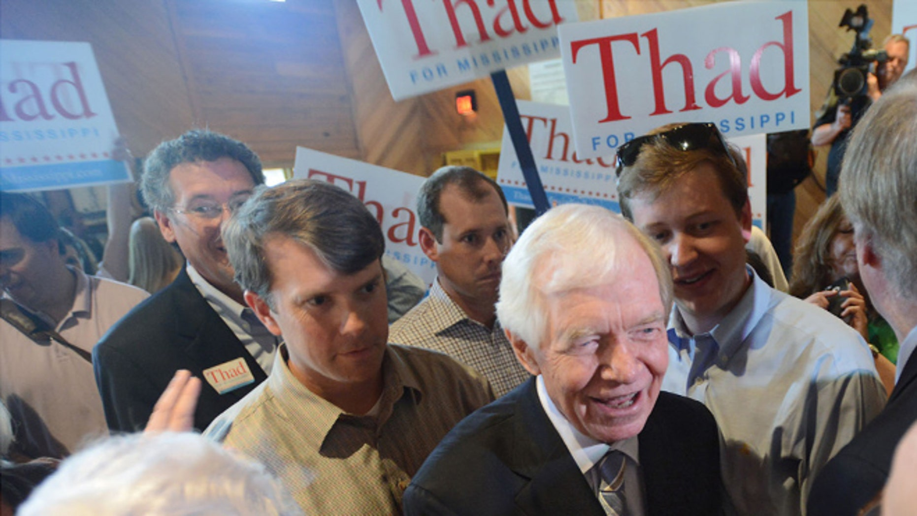 Monday, June 2, 2014: Sen. Thad Cochran, R-Miss., at a pre-election rally at the Mississippi Agriculture and Forestry Museum in Jackson, Miss.