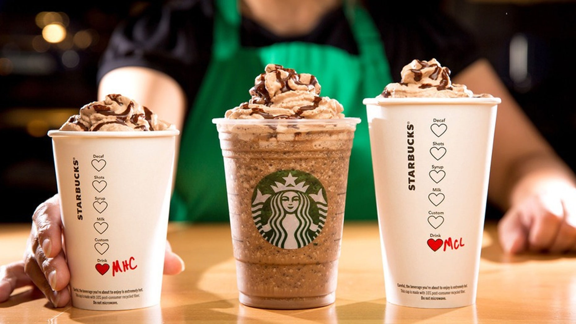 Molten Chocolate Latte, Molten Chocolate Frappuccino, and the Molten Hot Chocolate are only around through Sunday, February 14.