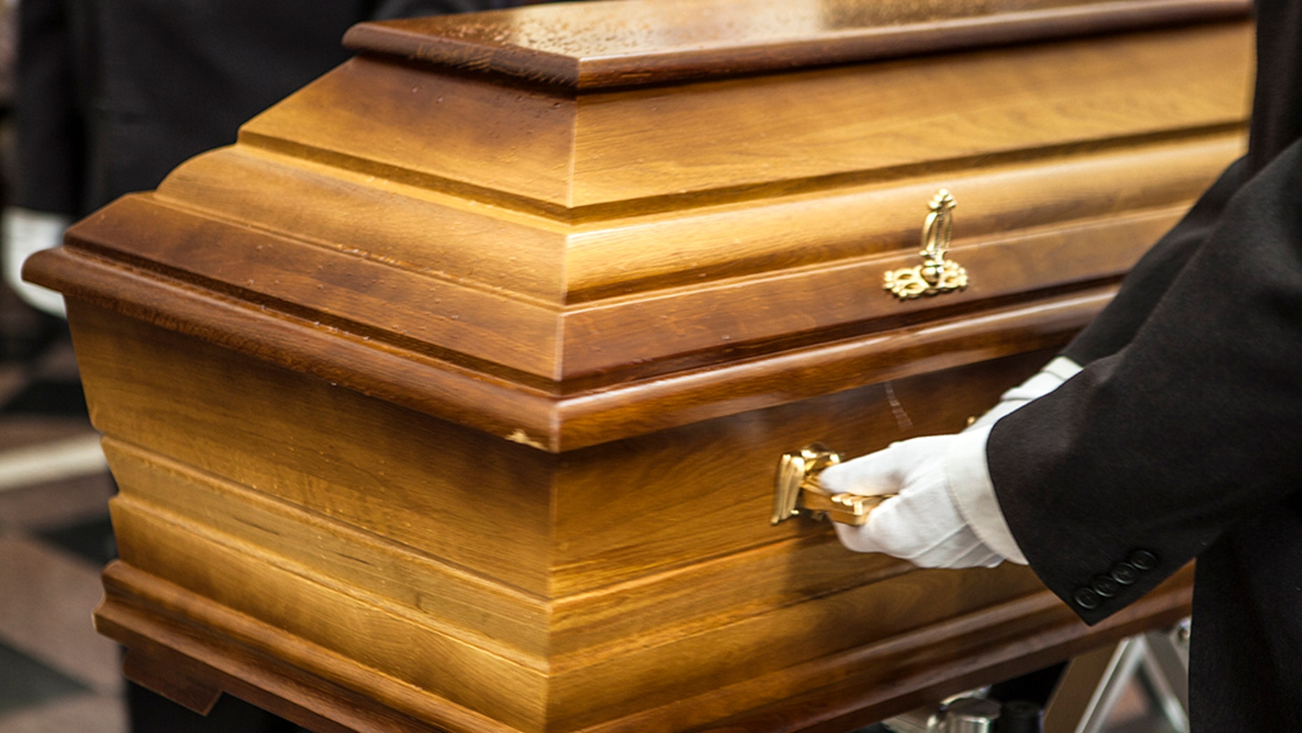 A man was crushed by his mother's casket in Indonesia on Friday, June 15, 2018.