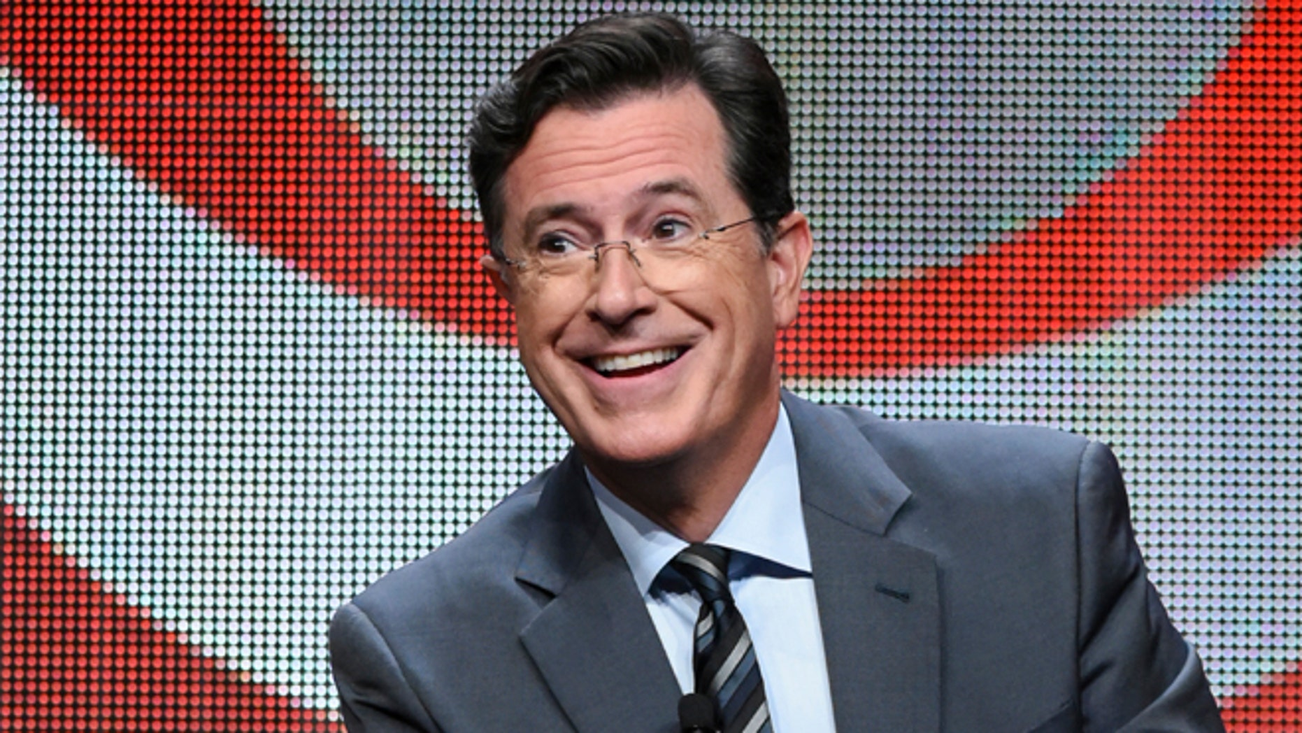 Stephen Colbert gleefully responded to insults hurled his way by President Trump.