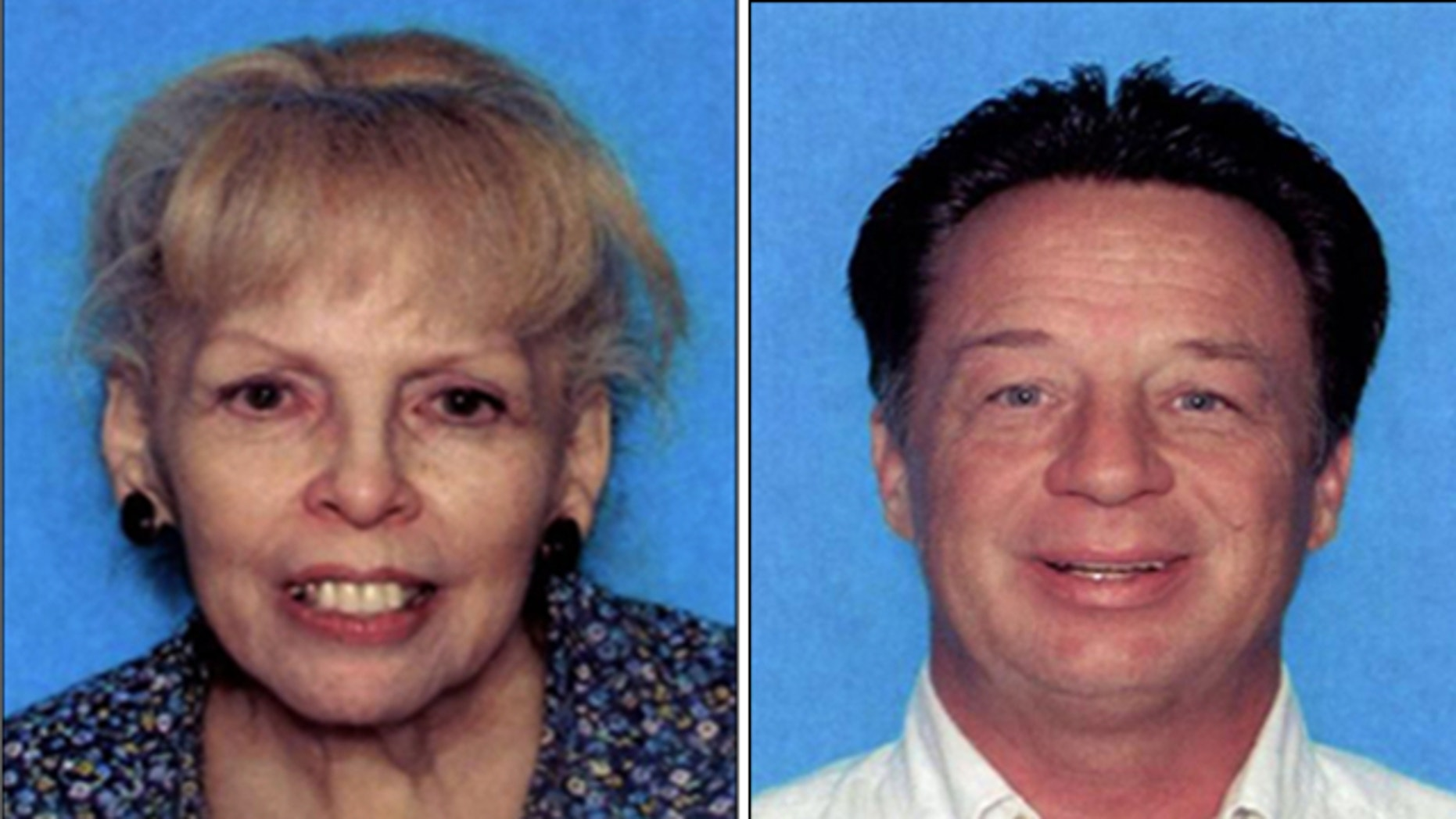 This undated photo provided by the El Paso County Sheriff's Office shows Lisbeth Ann Garrett and Roger Evan Garrett.