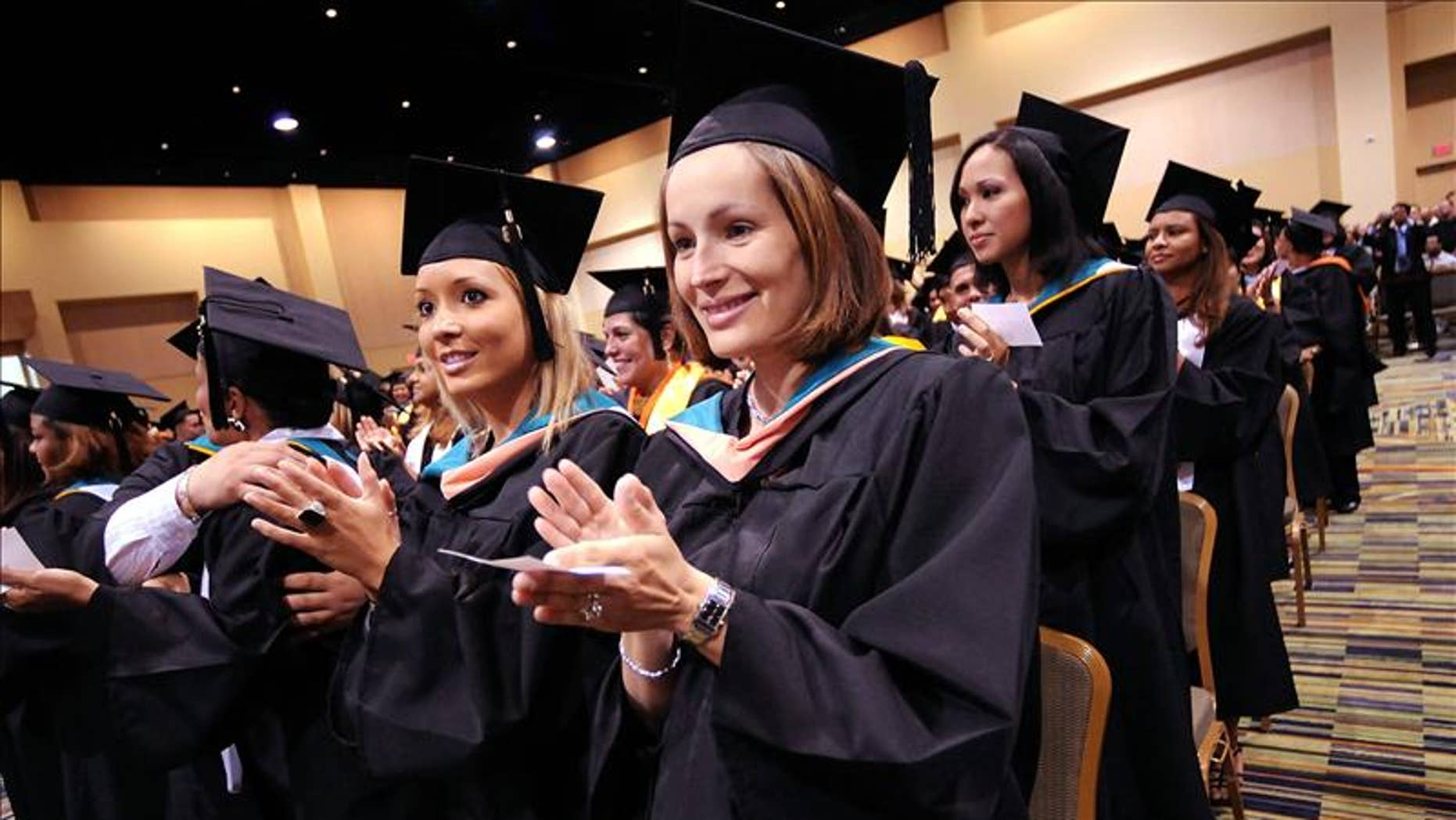 Students at a graduation ceremony in Orlando, Florida.