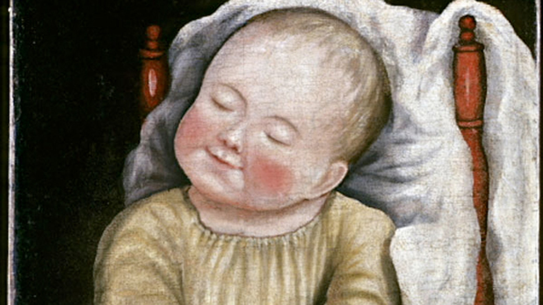 "Painted by an unidentified artist about 1810 to 1830, ""Baby in Red Chair"" is one of the earliest paintings to enter the collection."