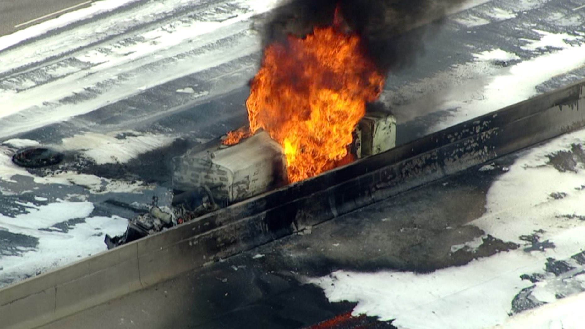 A fuel tanker caught fire and exploded a little before noon, according to the Colorado Department of Transportation.