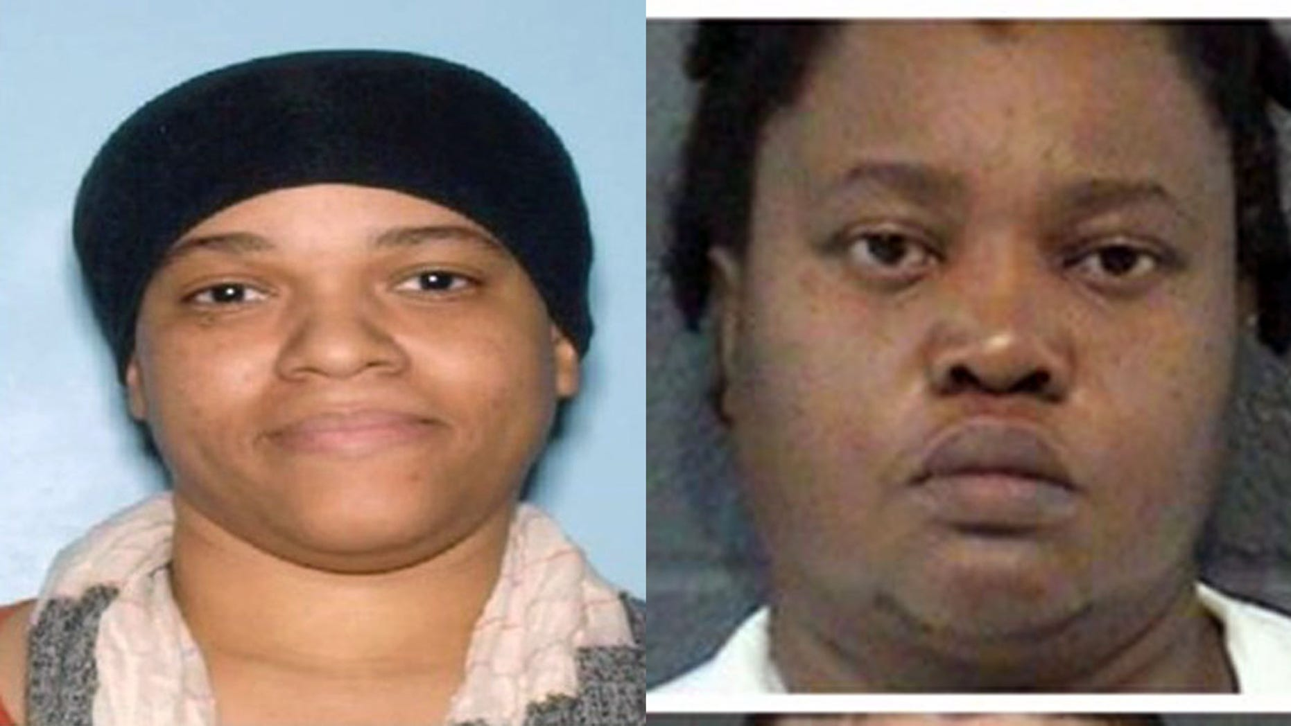 Nashika Bramble, left, and Madani Ceus were originally arrested last month on felony child abuse charges