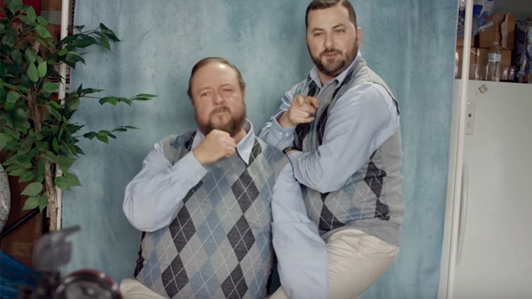 """Colt Ford, left, and Tyler Farr were nearly unrecognizable in the """"My Truck"""" music video."""