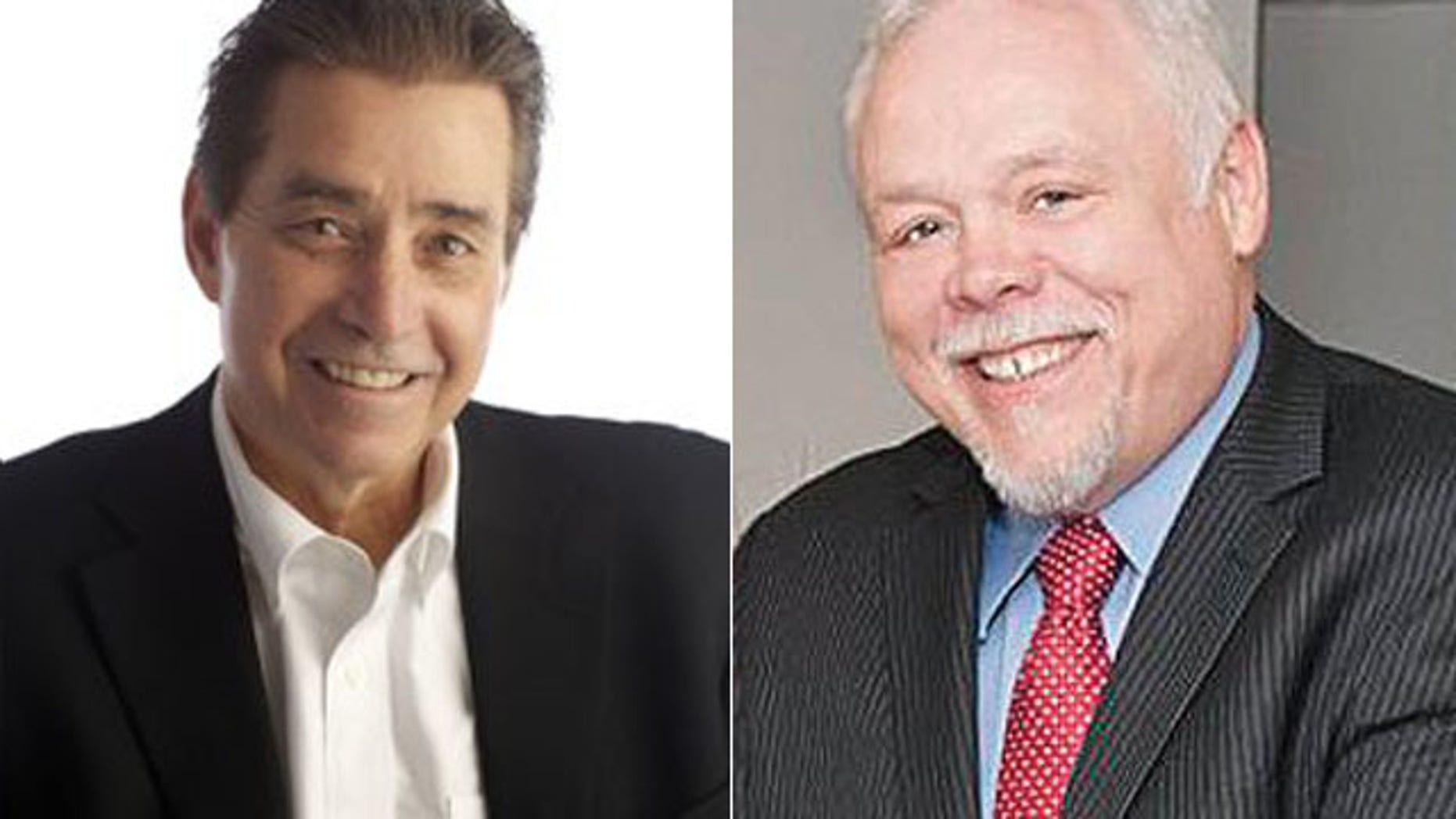 The editor of The Columbian Lou Brancaccio, left, and state Sen. Don Benton.