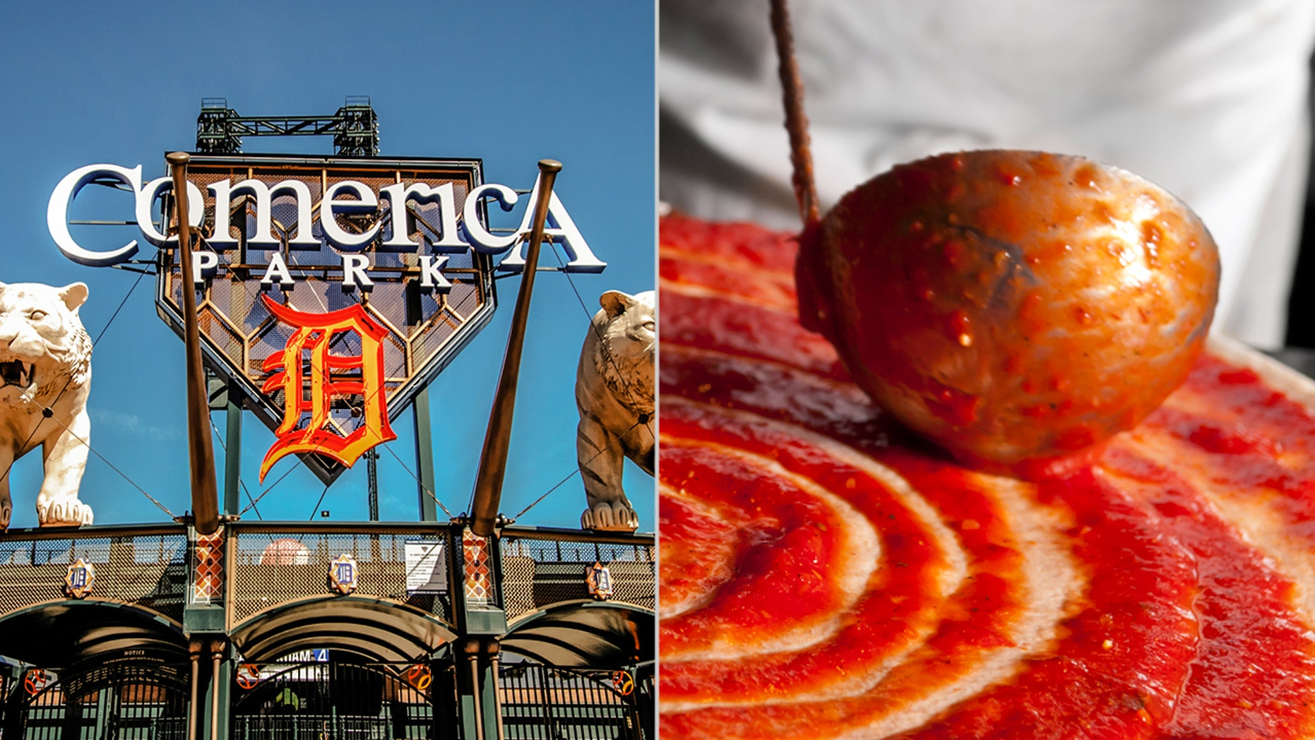 """The Comerica Park worker was filmed by a fellow pizza shop employee, who claims the man spit into the pizza because a supervisor """"kept yelling at him."""""""