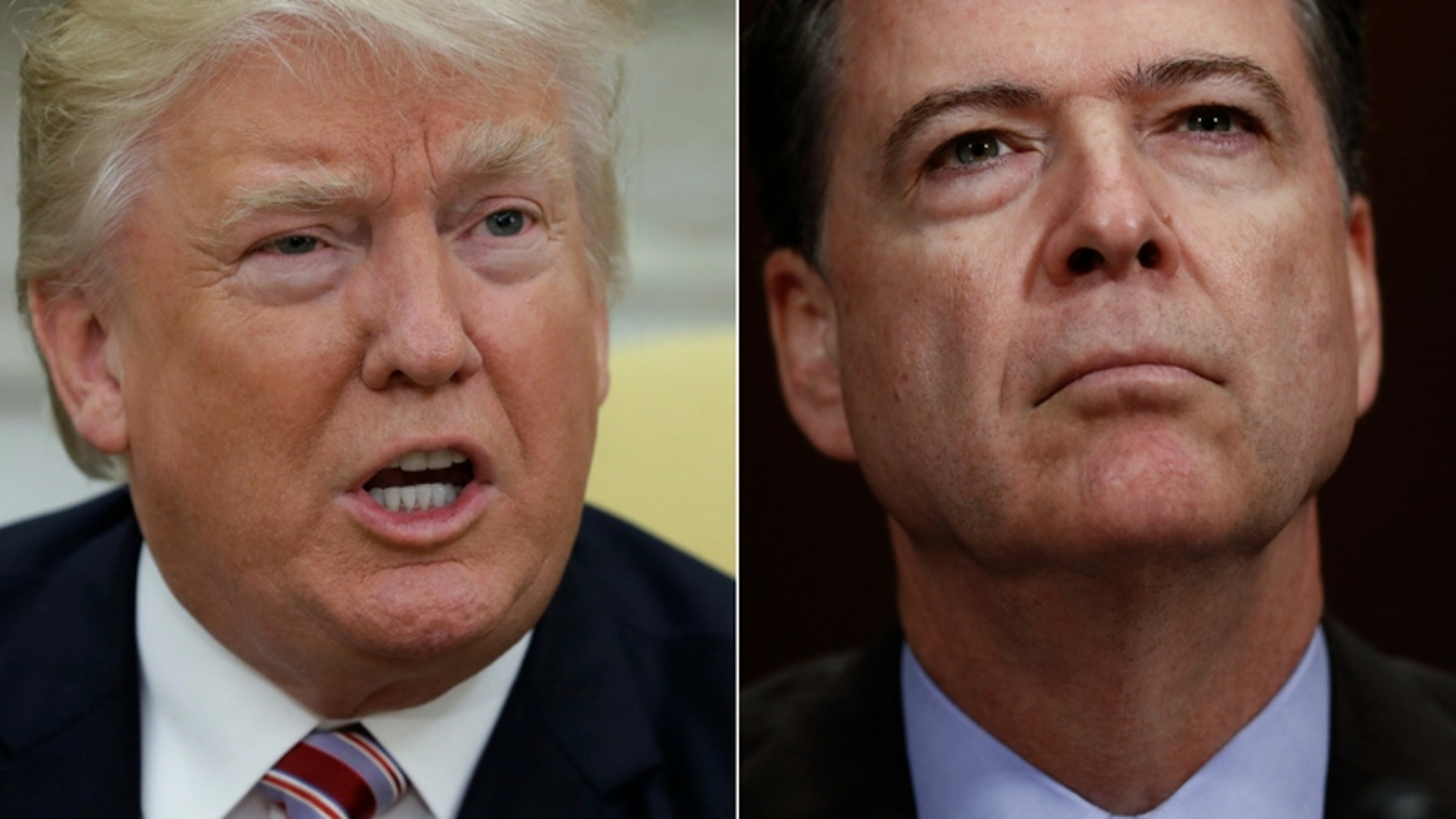 President Donald Trump had asked FBI Director James Comey for his loyalty during a dinner in January, a report claimed. (Associated Press)