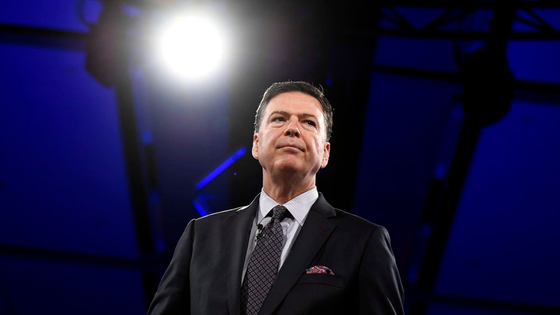 Former FBI director James Comey speaks during the Canada 2020 Conference in Ottawa on Tuesday, June 5, 2018. (Justin Tang/The Canadian Press via AP)