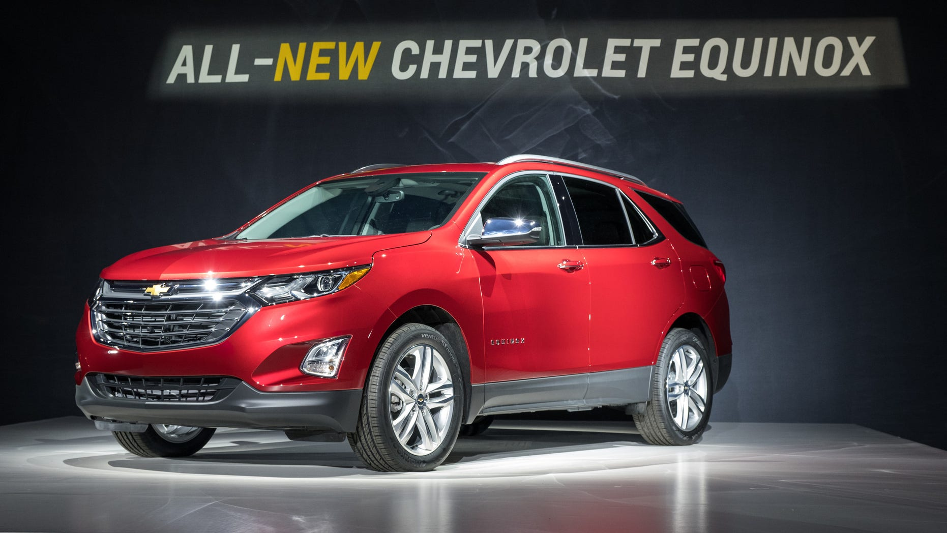 This photo provided by General Motors shows the 2018 Chevrolet Equinox compact SUV, Thursday, Sept. 22, 2016 in Chicago.  While sales of its main competitors are rising, the aging Chevrolet Equinox compact SUV has taken a dramatic tumble so far this year in the fastest-growing part of the U.S. market. General Motors is hoping to turn that around when it replaces the Equinox with a revamped model that goes on sale early next year. (Steve Fecht/General Motors via AP)