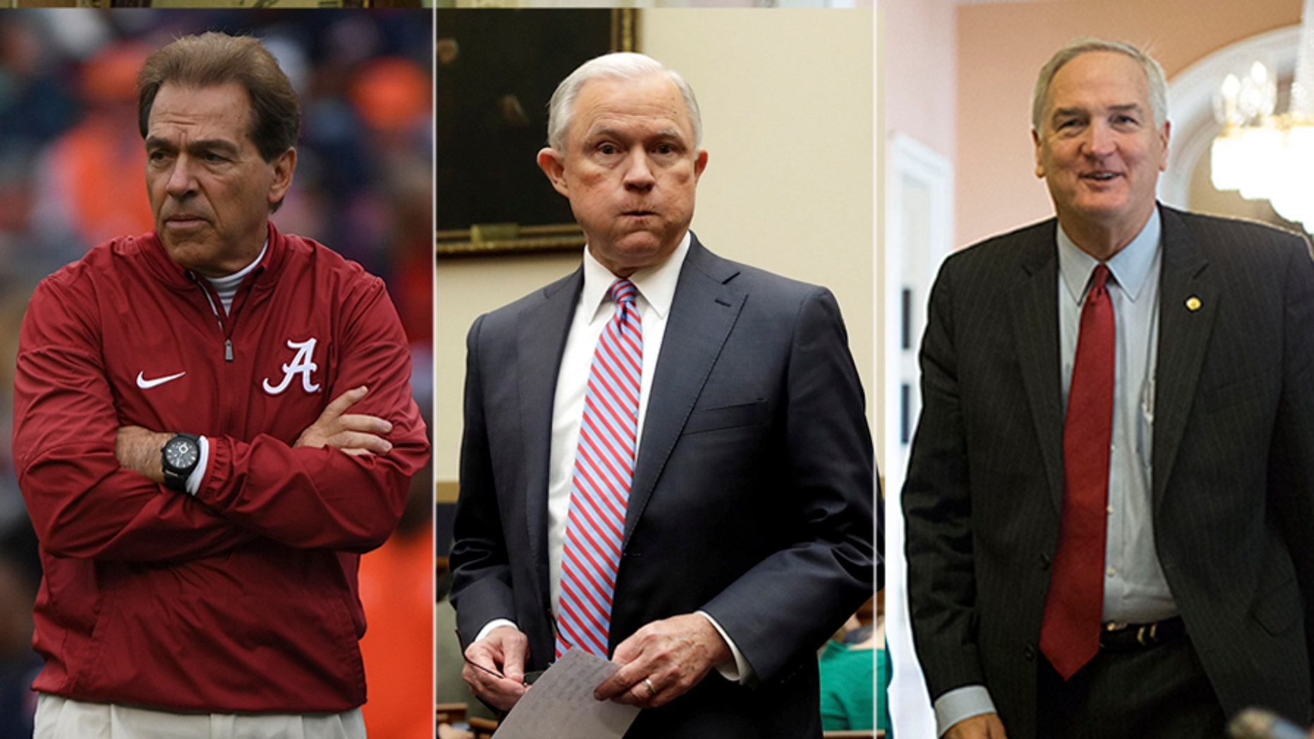 University of Alabama football coach Nick Saban, Attorney General Jeff Sessions and outgoing GOP Sen. Luther Strange are believed to have received write-in votes in Tuesday's Senate race.