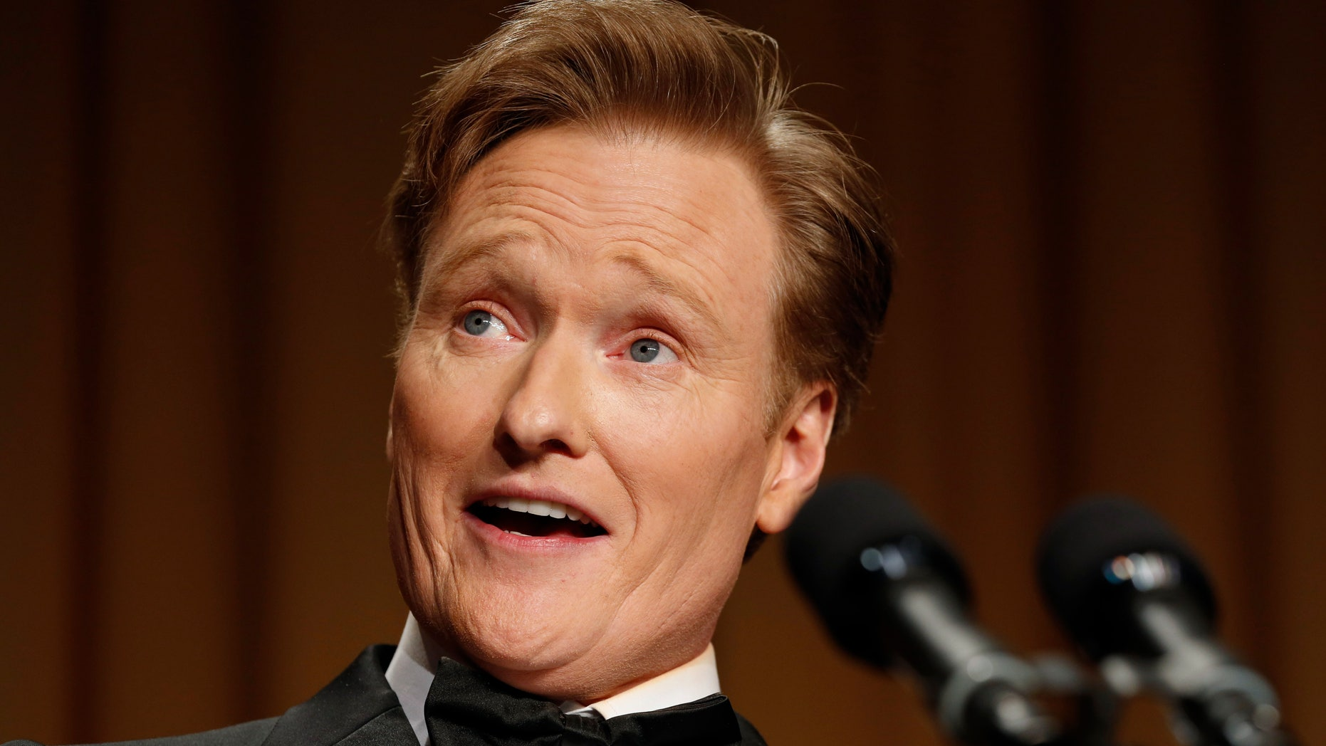 Comedian Conan O'Brien speaks at the White House Correspondents Association Dinner in Washington April 27, 2013.
