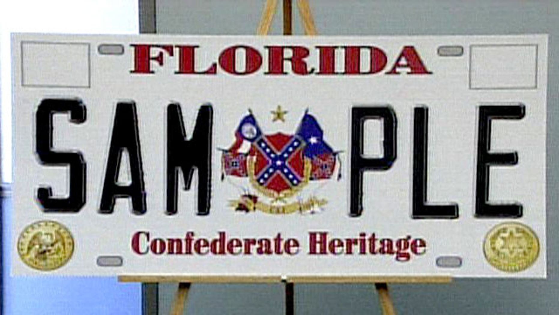 "Florida requires the approval of the state legislature for all license plates and has repeatedly rejected the so-called ""rebel plates."""