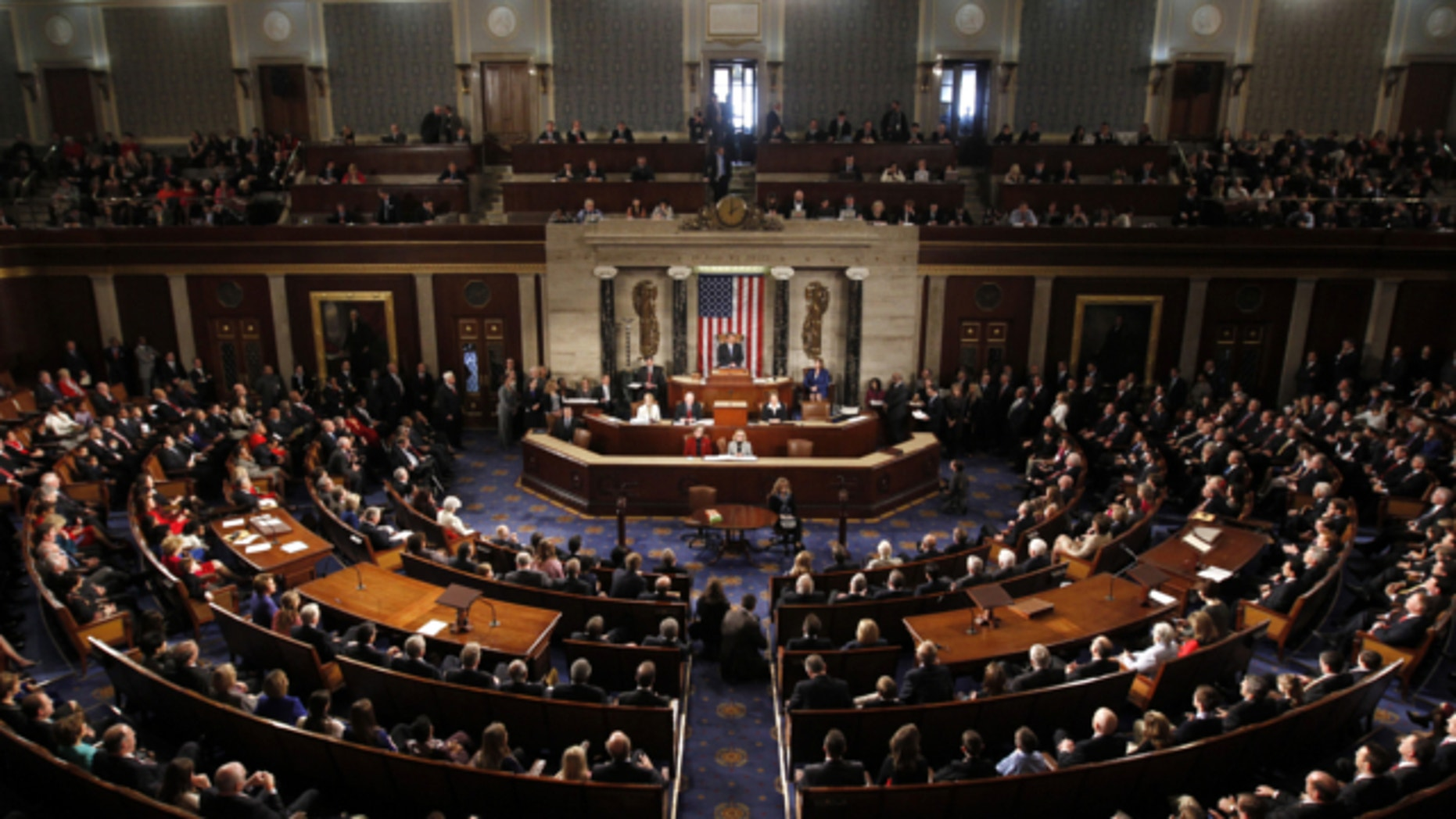 Jan. 3, 2013: Speaker of the House John Boehner addresses the 113th Congress in the Capitol in Washington.