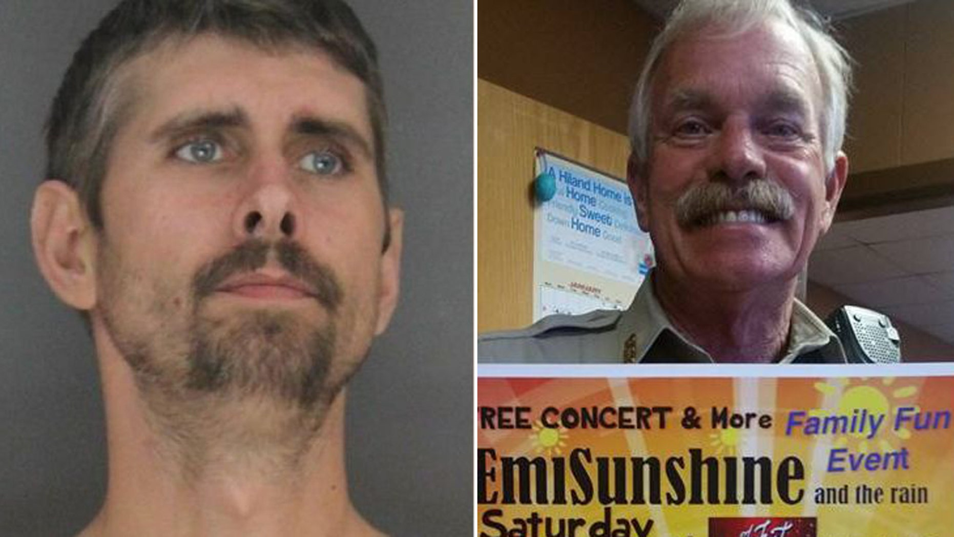 Billy Jones, left, is suspected of fatally shooting Sebastian County Sheriff's Deputy Bill Cooper, right, and Hackett Chief of Police Darrell Spells