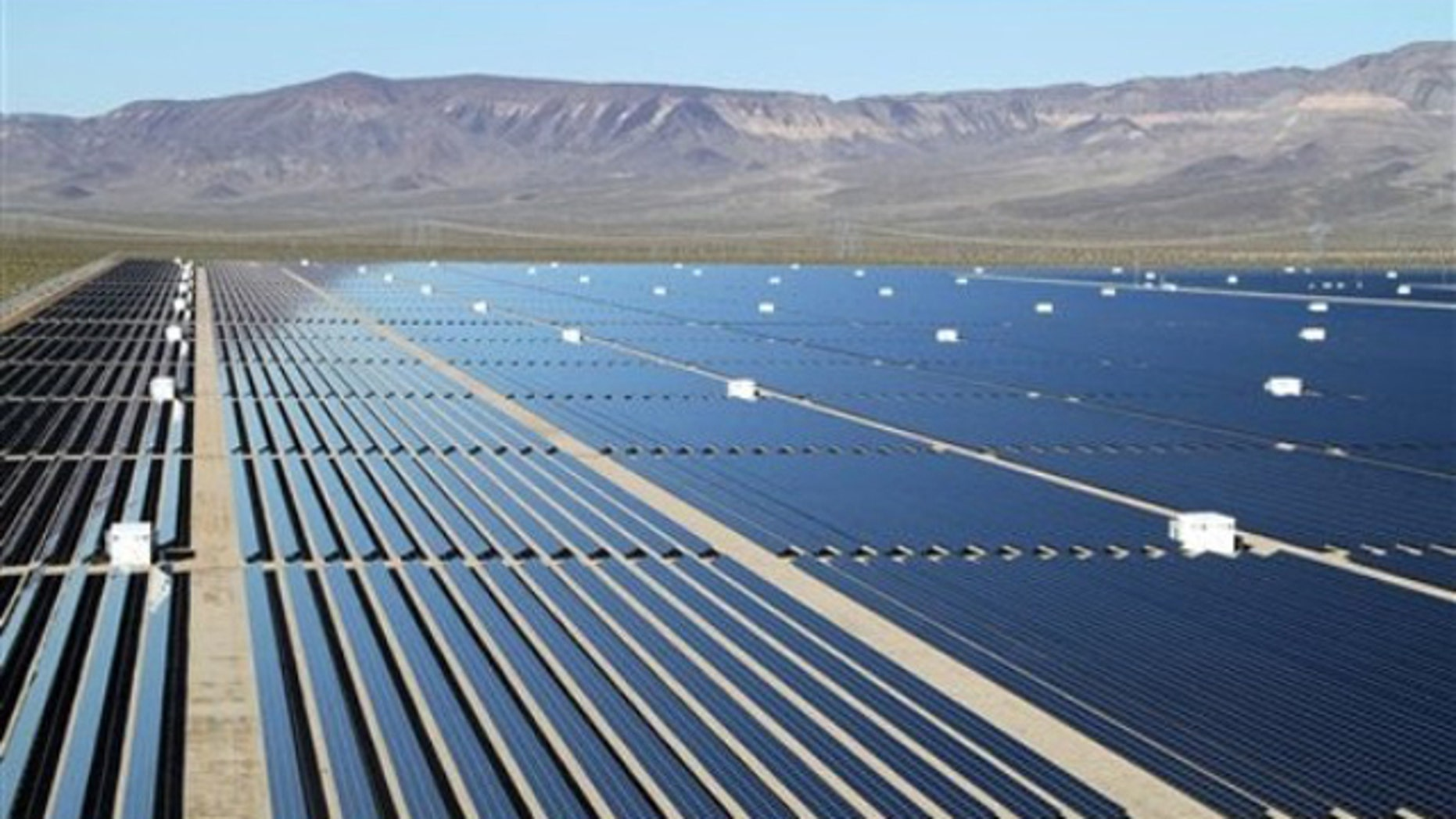 Shown here is the Copper Mountain Solar 1 installation in Boulder City, Nev.