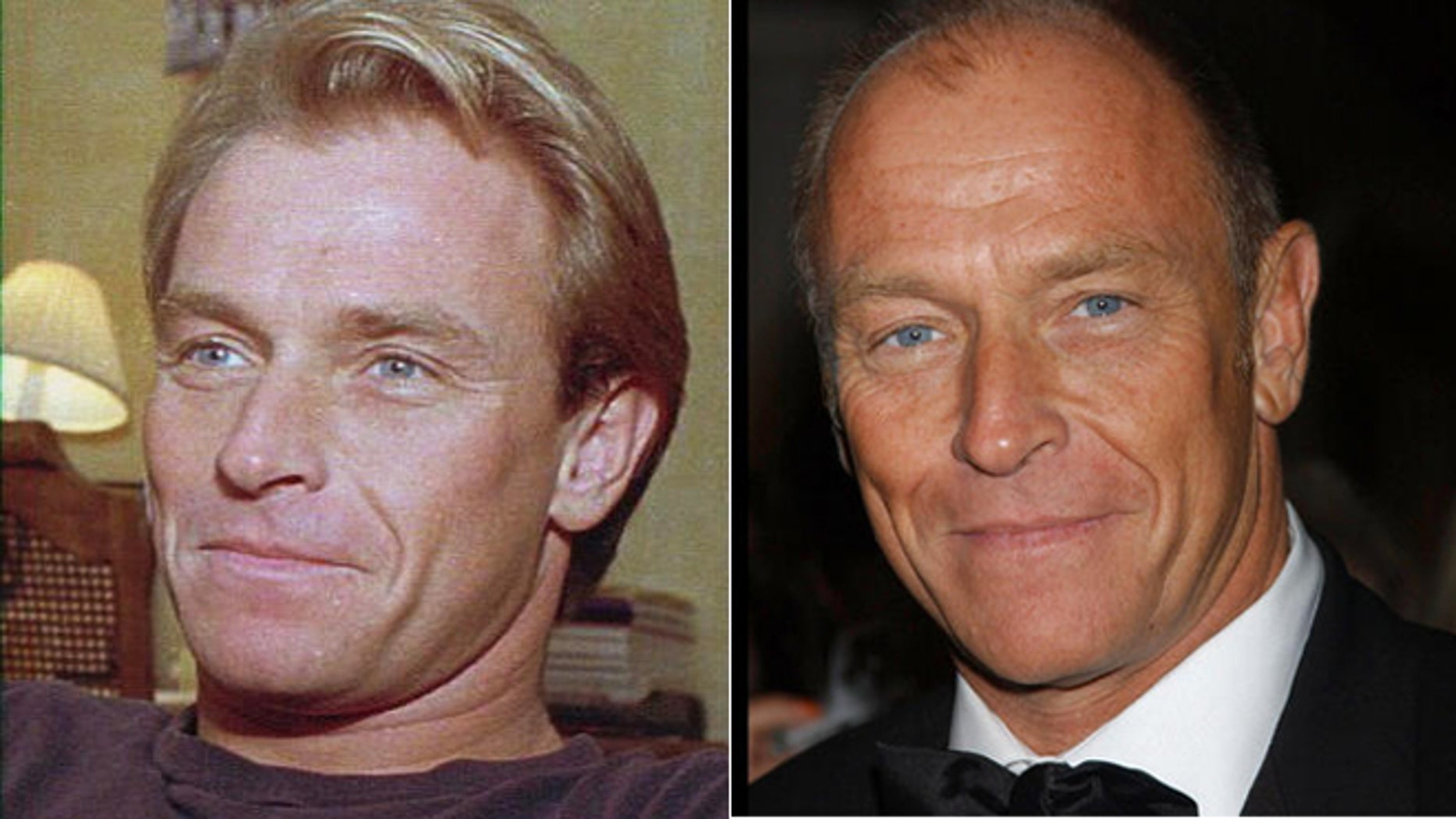 Actor Corbin Bernsen poses in 1985, left, and 2005.