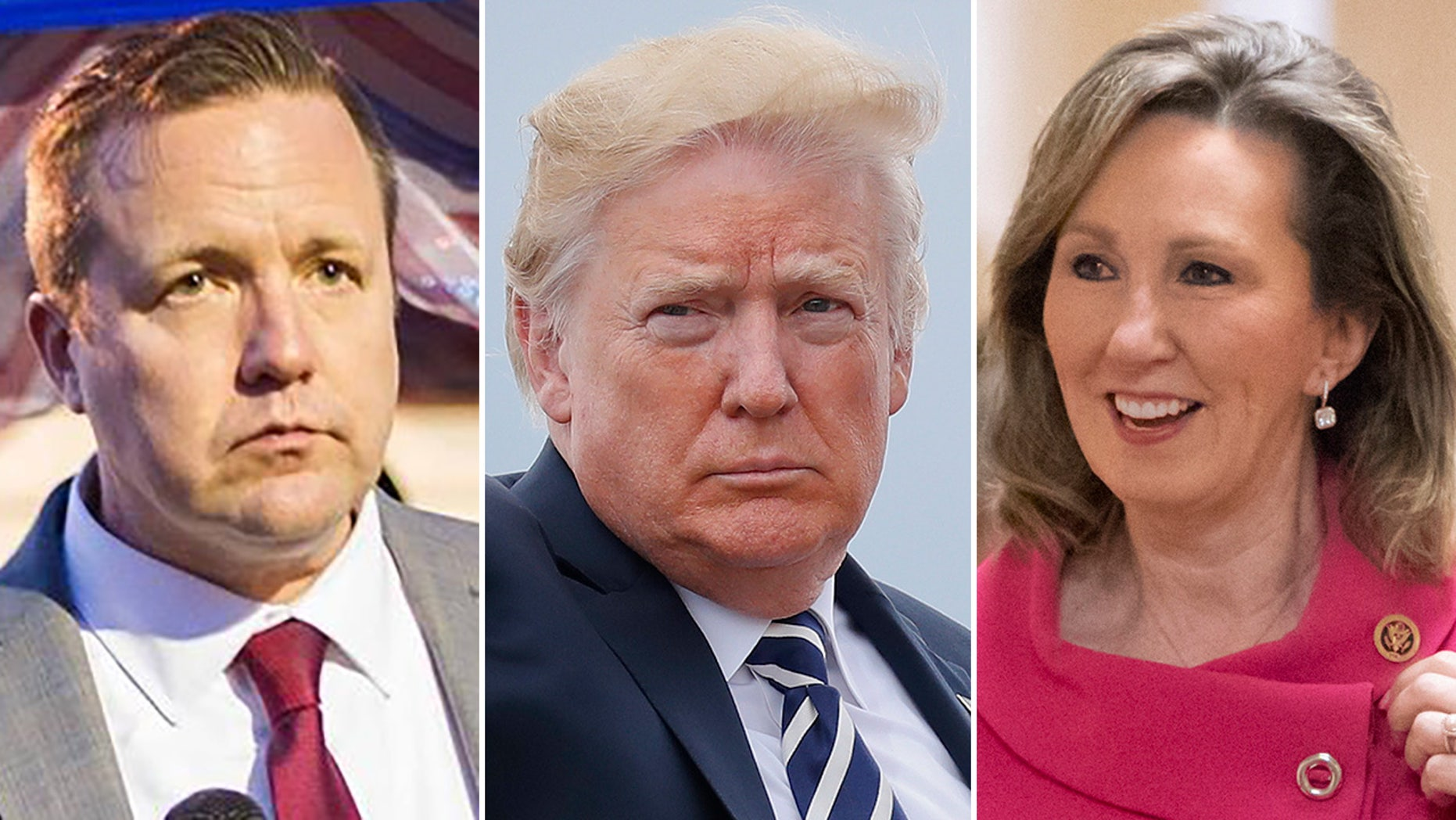 President Trump's proposal to halt pay raises for federal workers drew pushback from Virginia Republicans Corey Stewart, left, a U.S. Senate candidate, and U.S. Rep. Barbara Comstock, who is up for reelection.