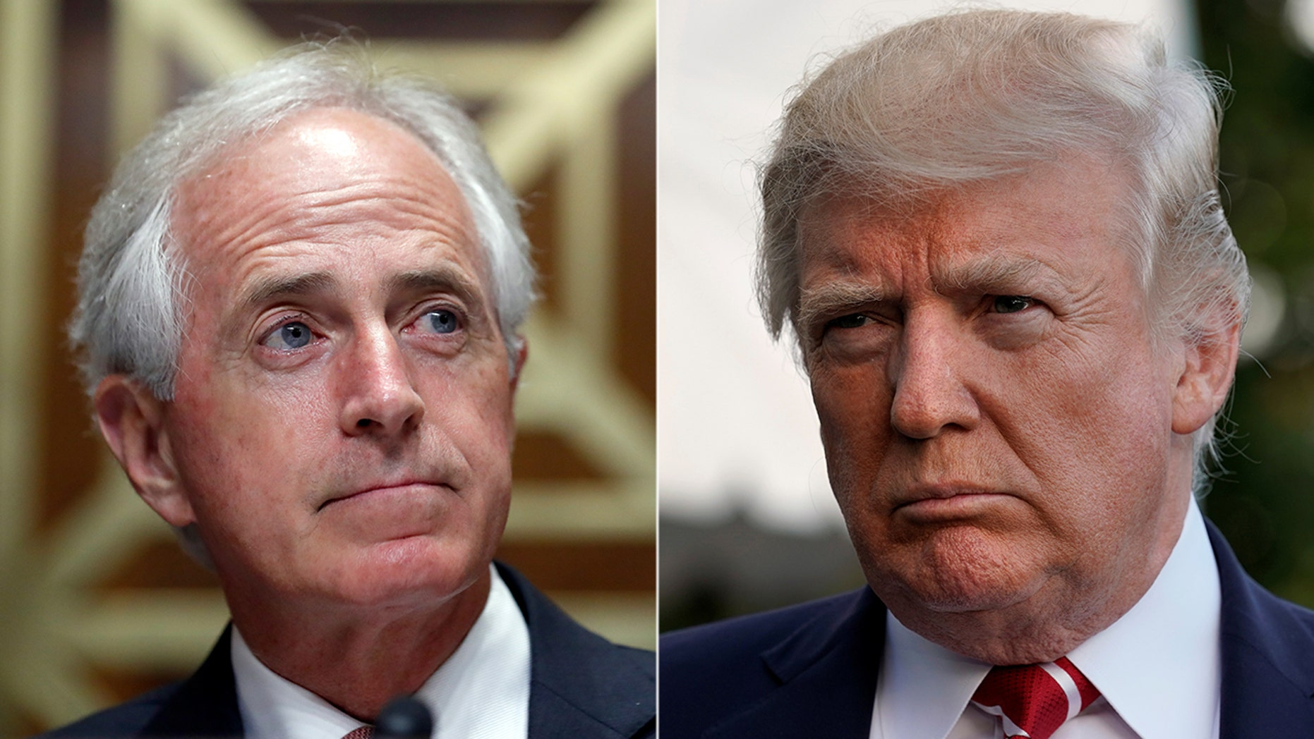When U.S. Sen. Bob Corker, R-Tenn., left, called the partial government shutdown a